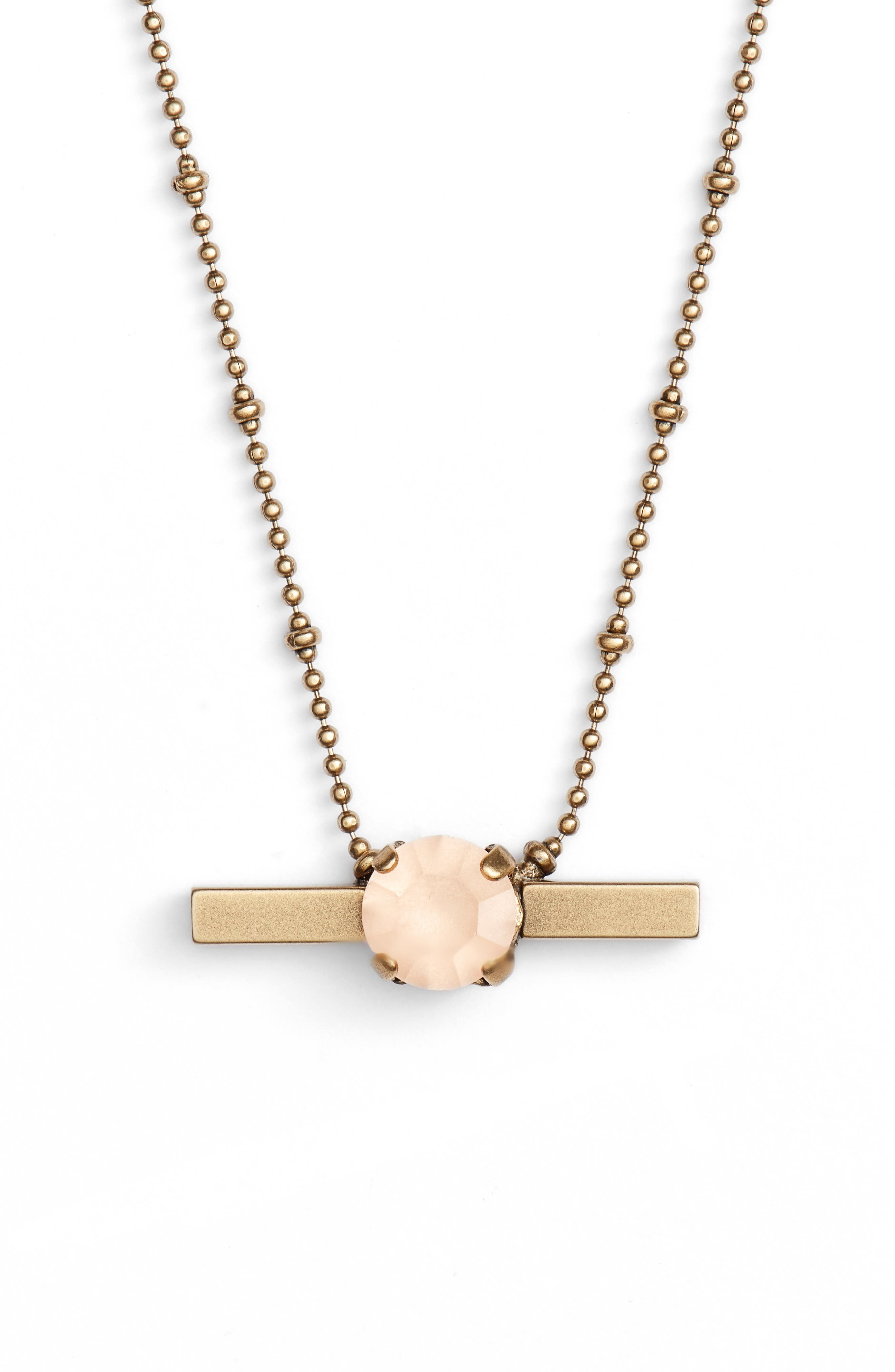 Loren Hope Nora Crystal Bar Necklace