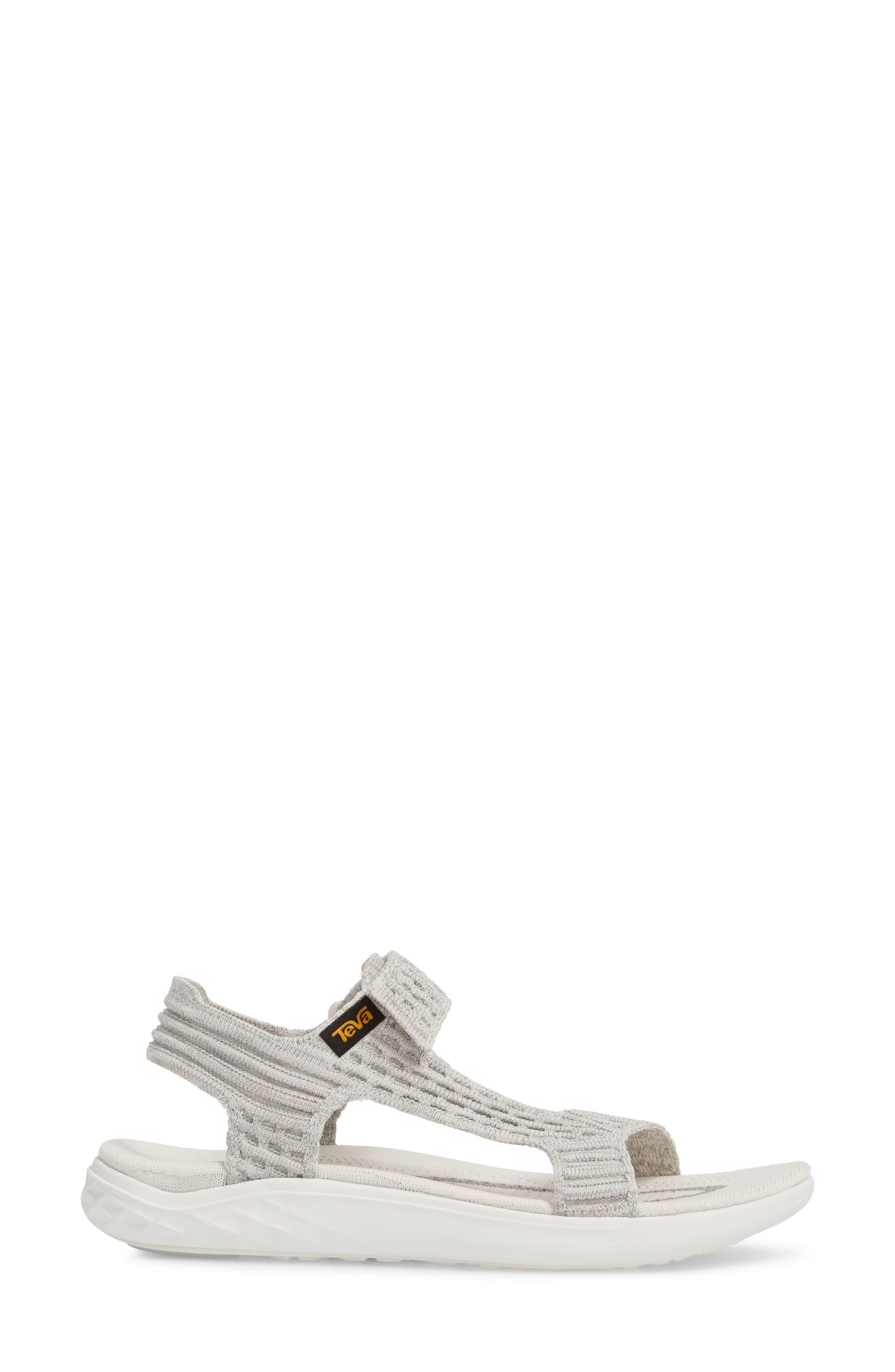 Terra Float 2 Knit Universal Sandal,                             Alternate thumbnail 3, color,                             Bright White Fabric