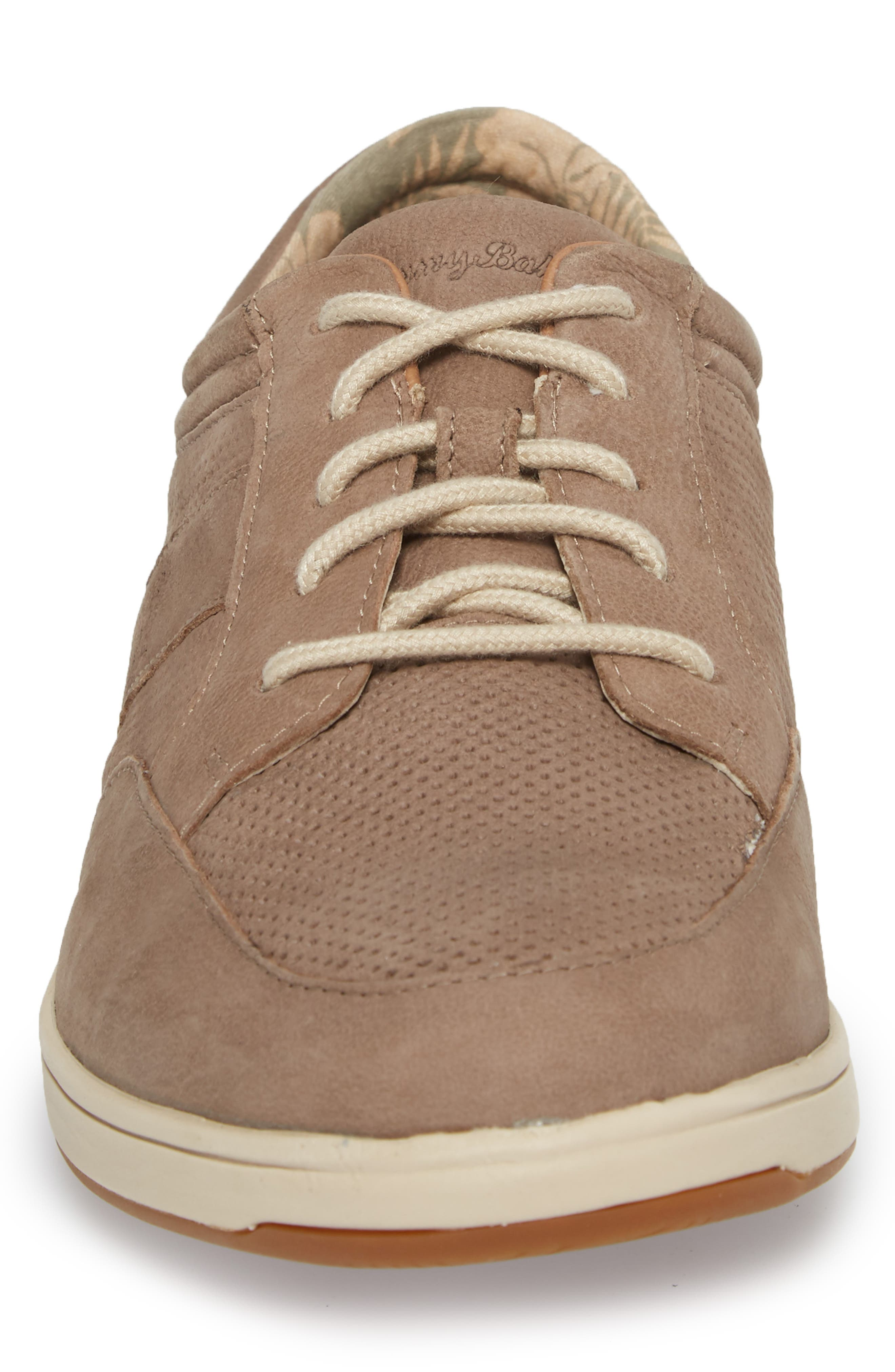 Caicos Authentic Low Top Sneaker,                             Alternate thumbnail 4, color,                             Taupe Leather
