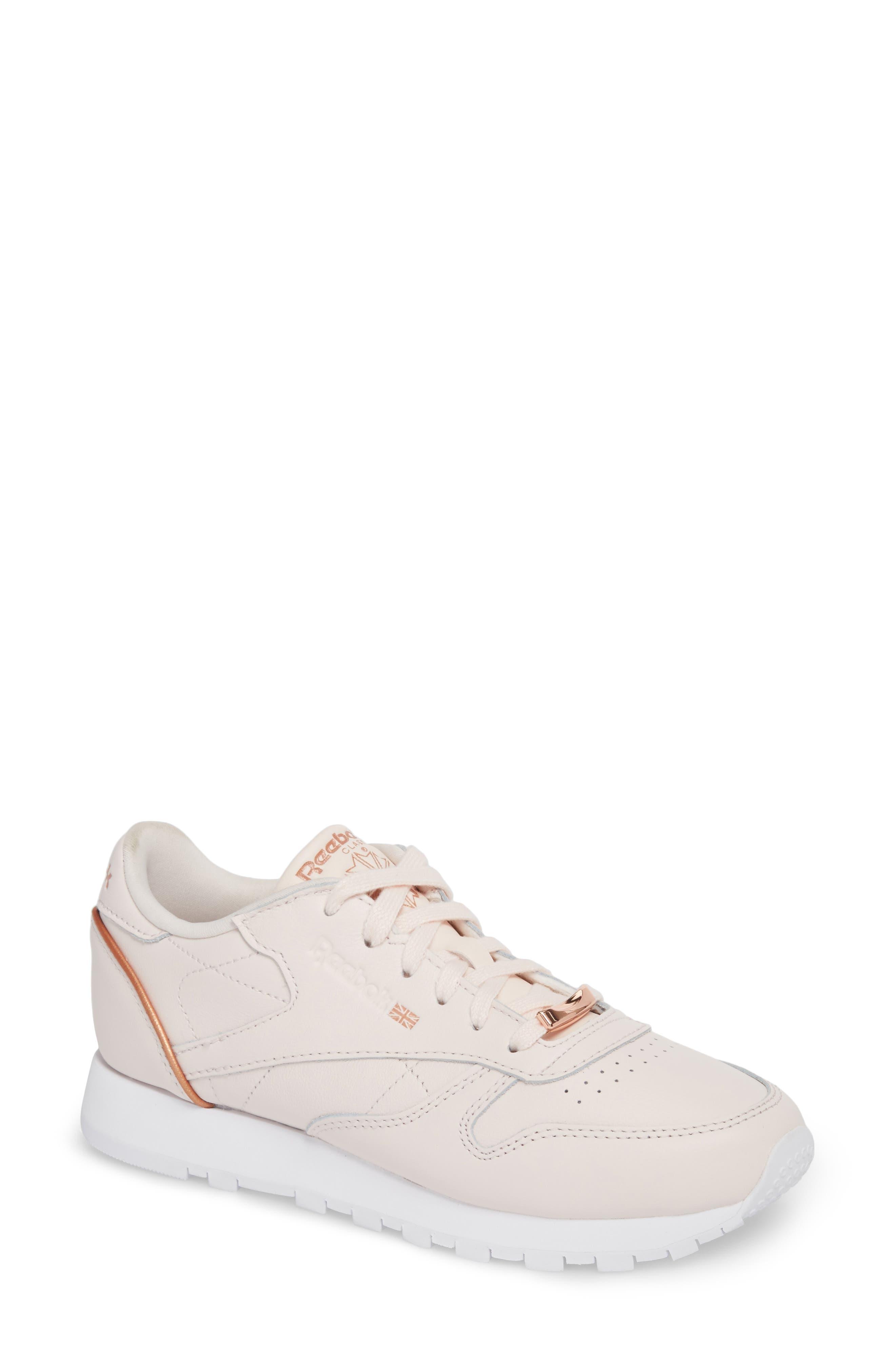 Alternate Image 1 Selected - Reebok Classic Leather HW Sneaker (Women)