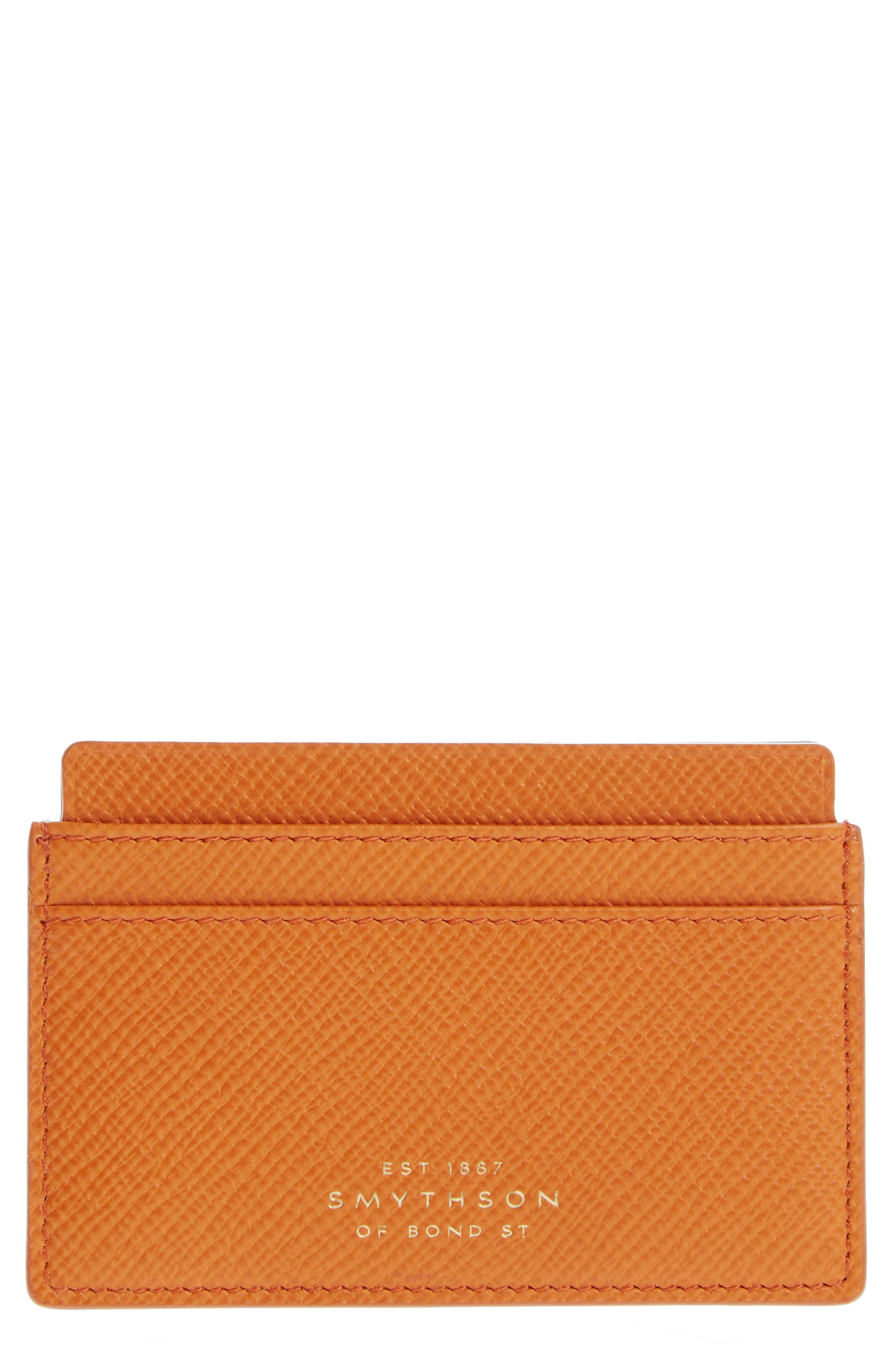 Smythson Panama Leather Card Case