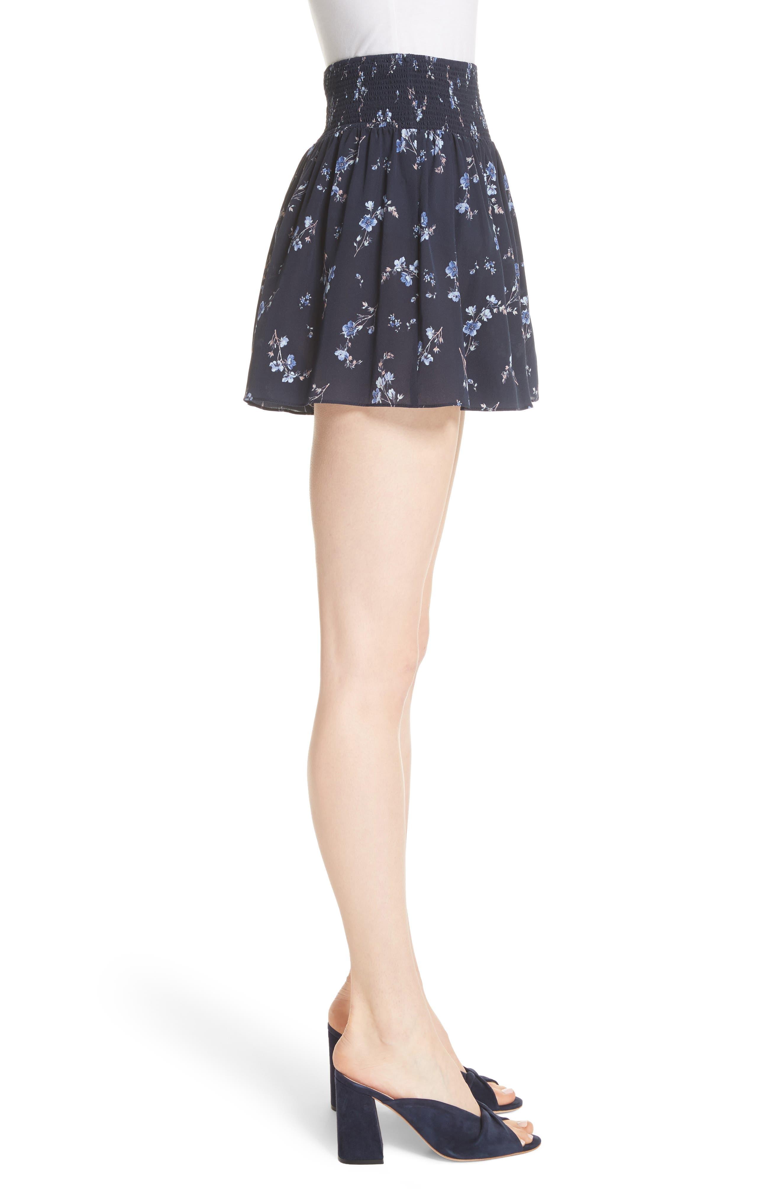 Alternate Image 3  - Rebecca Taylor Francine Floral Silk Shorts