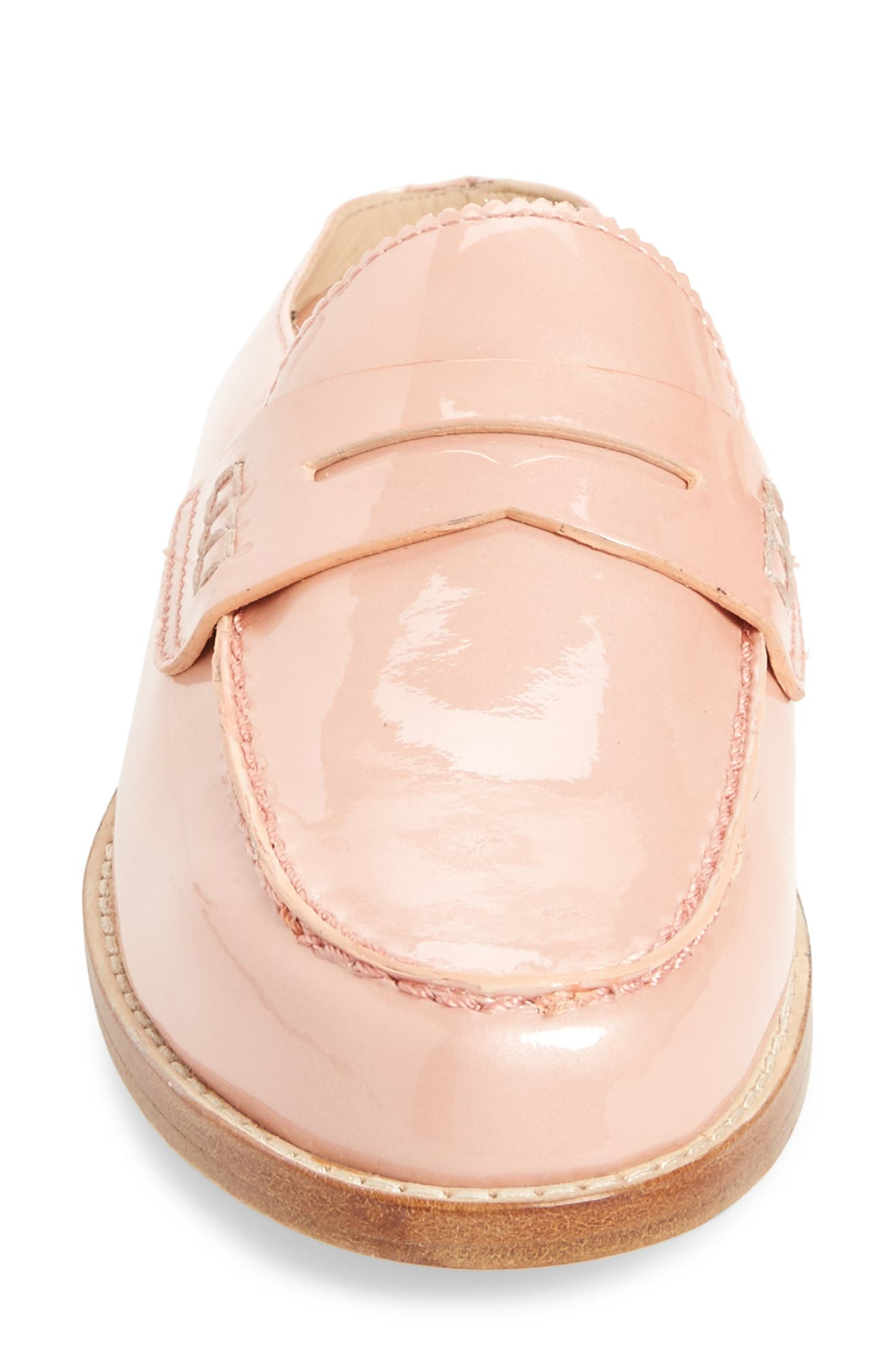 Giada Loafer Mule,                             Alternate thumbnail 4, color,                             Blush Patent Leather