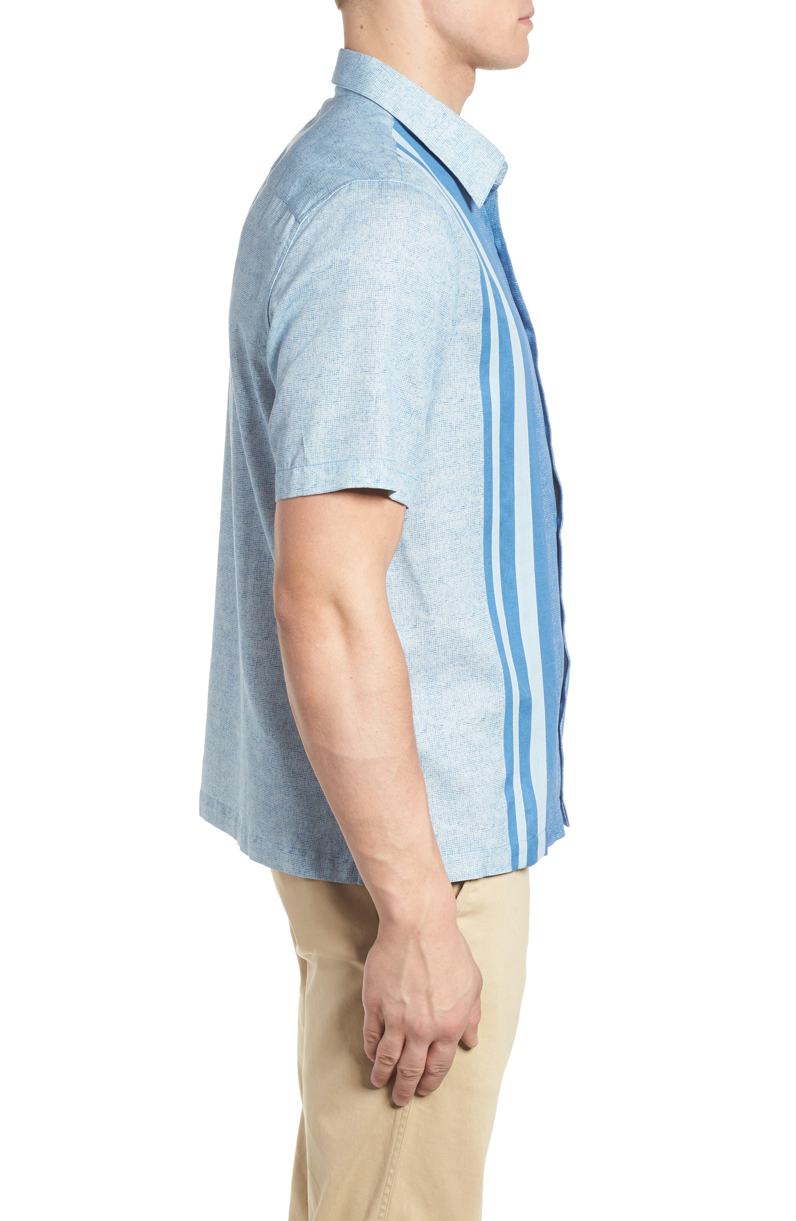 All Mixed Up Camp Shirt,                             Alternate thumbnail 3, color,                             Cornflower