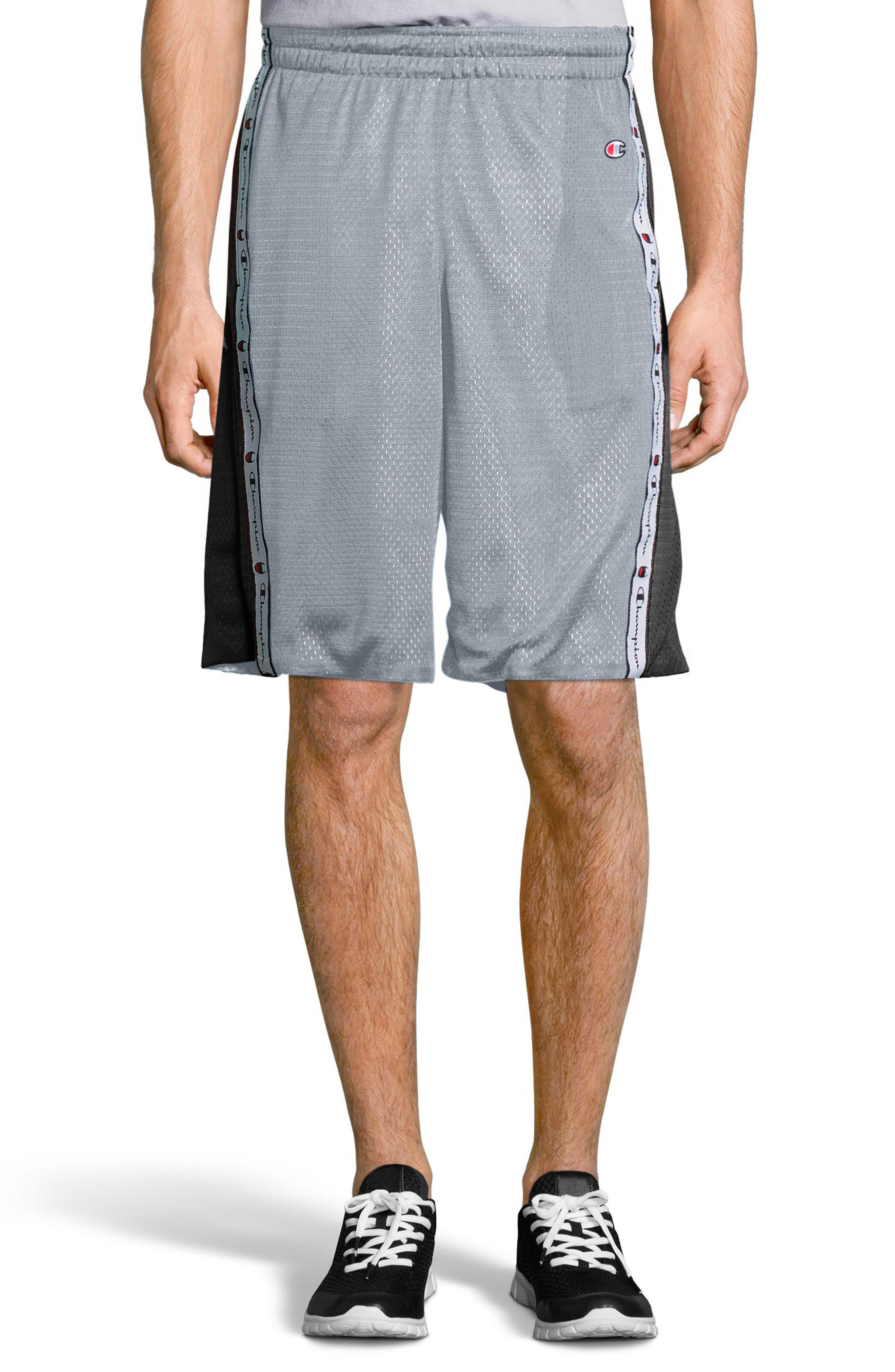 Reversible Mesh Shorts,                             Main thumbnail 1, color,                             Silverstone/ Black