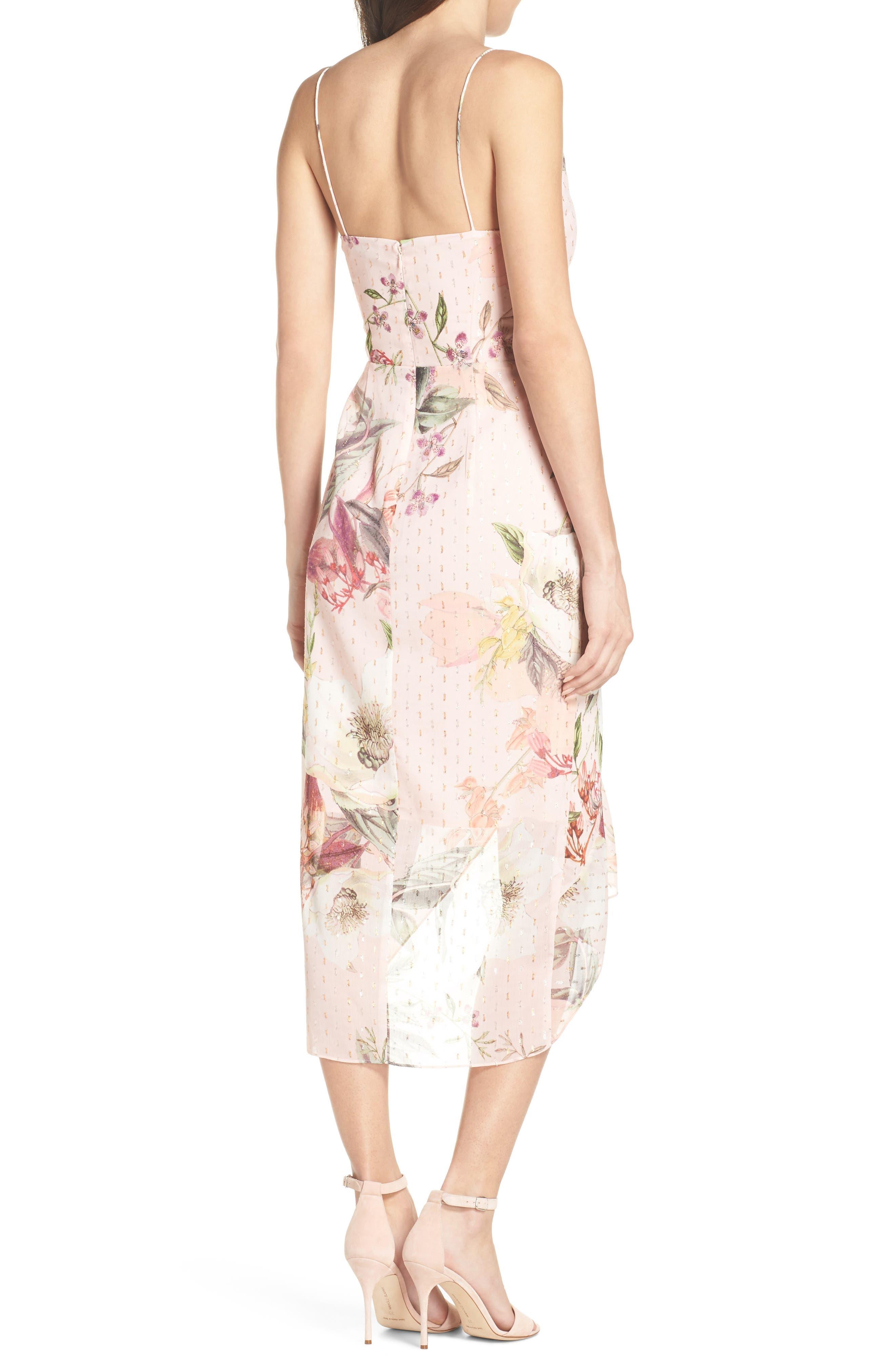 Flora Fade Drape Dress,                             Alternate thumbnail 2, color,                             Print