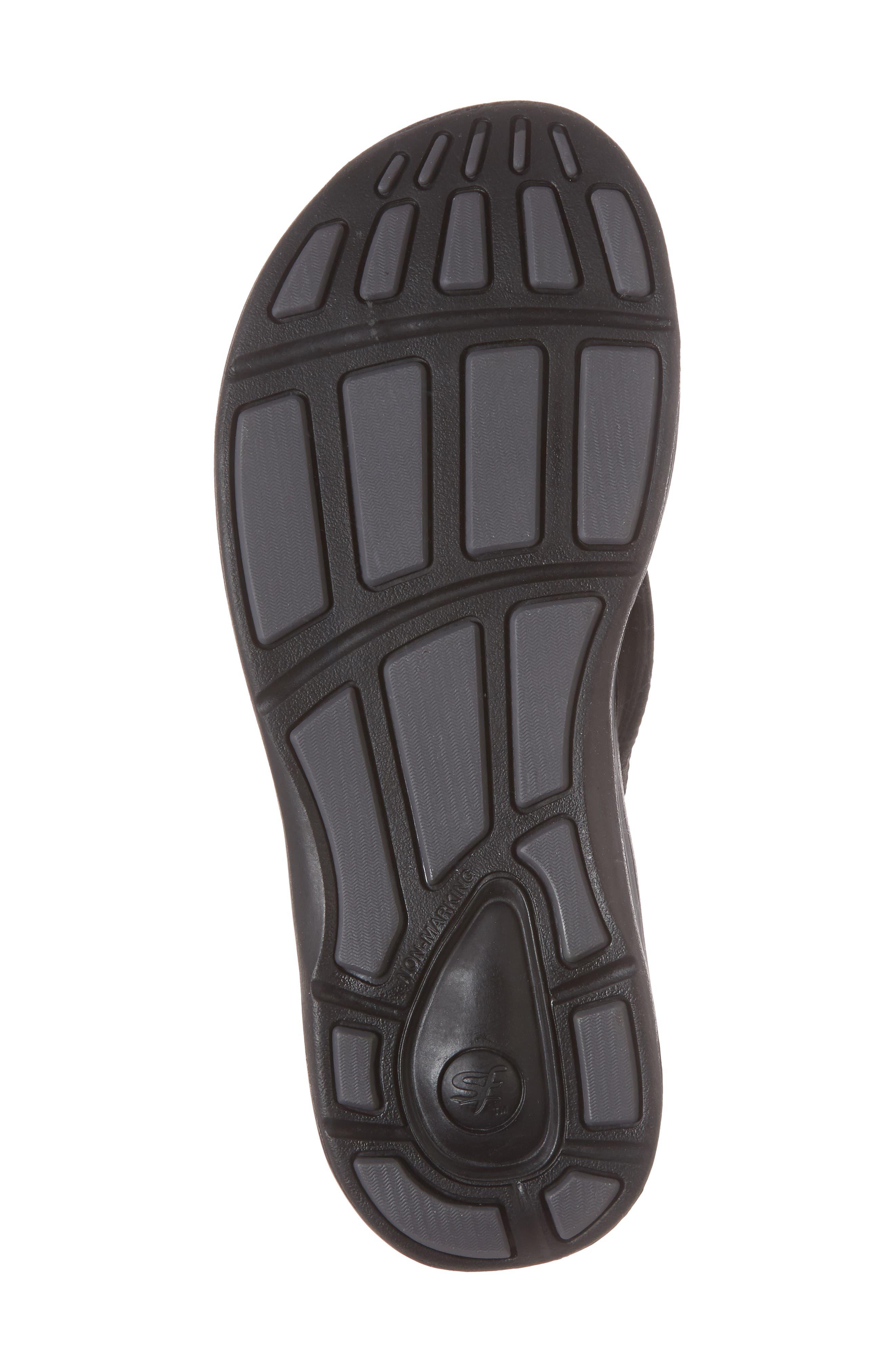 Outside 2.0 Flip Flop,                             Alternate thumbnail 6, color,                             Black Faux Leather