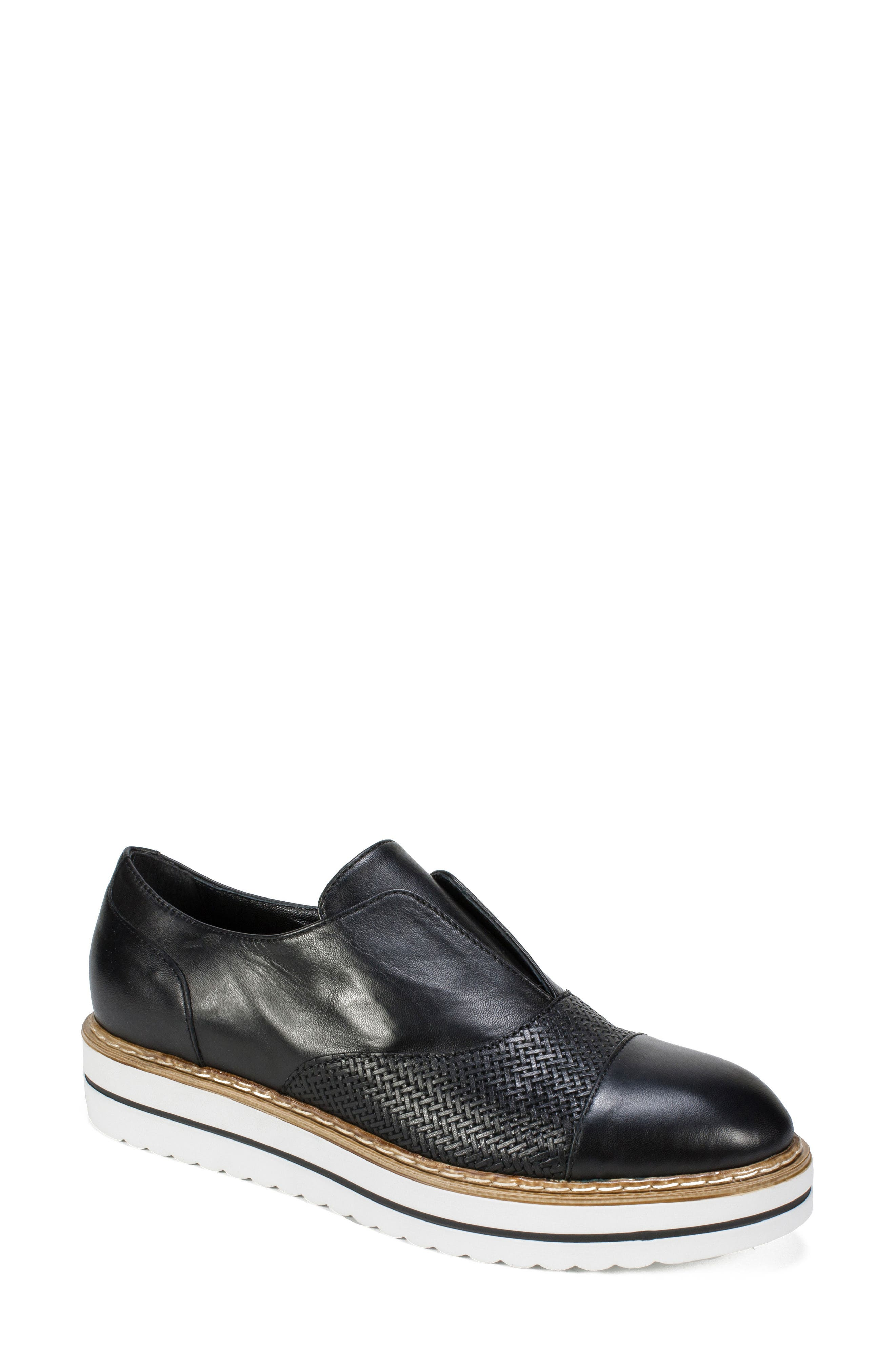 Bliss Loafer,                         Main,                         color, Black Leather