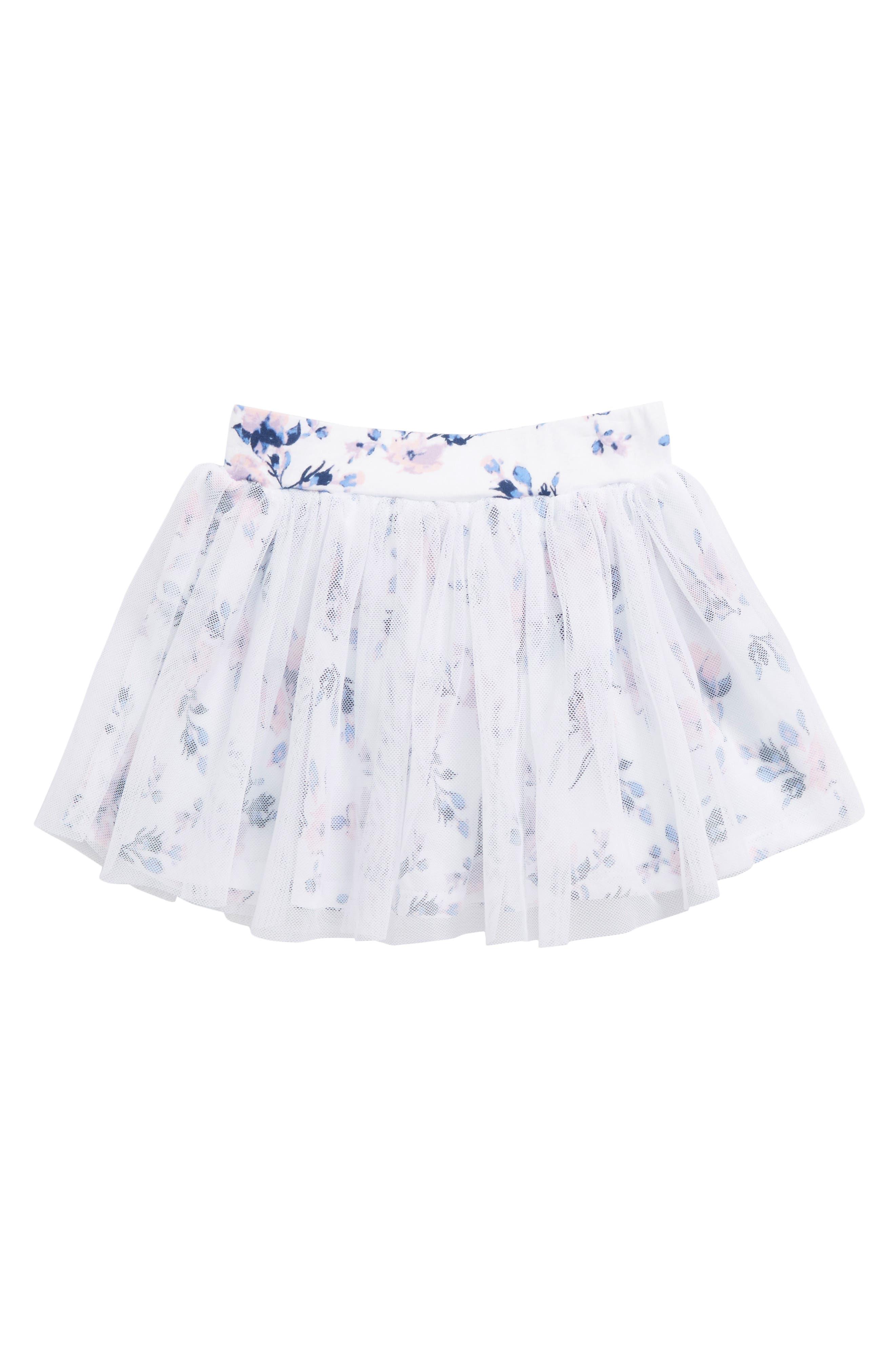 Splendid Floral Print Tutu (Baby Girls)