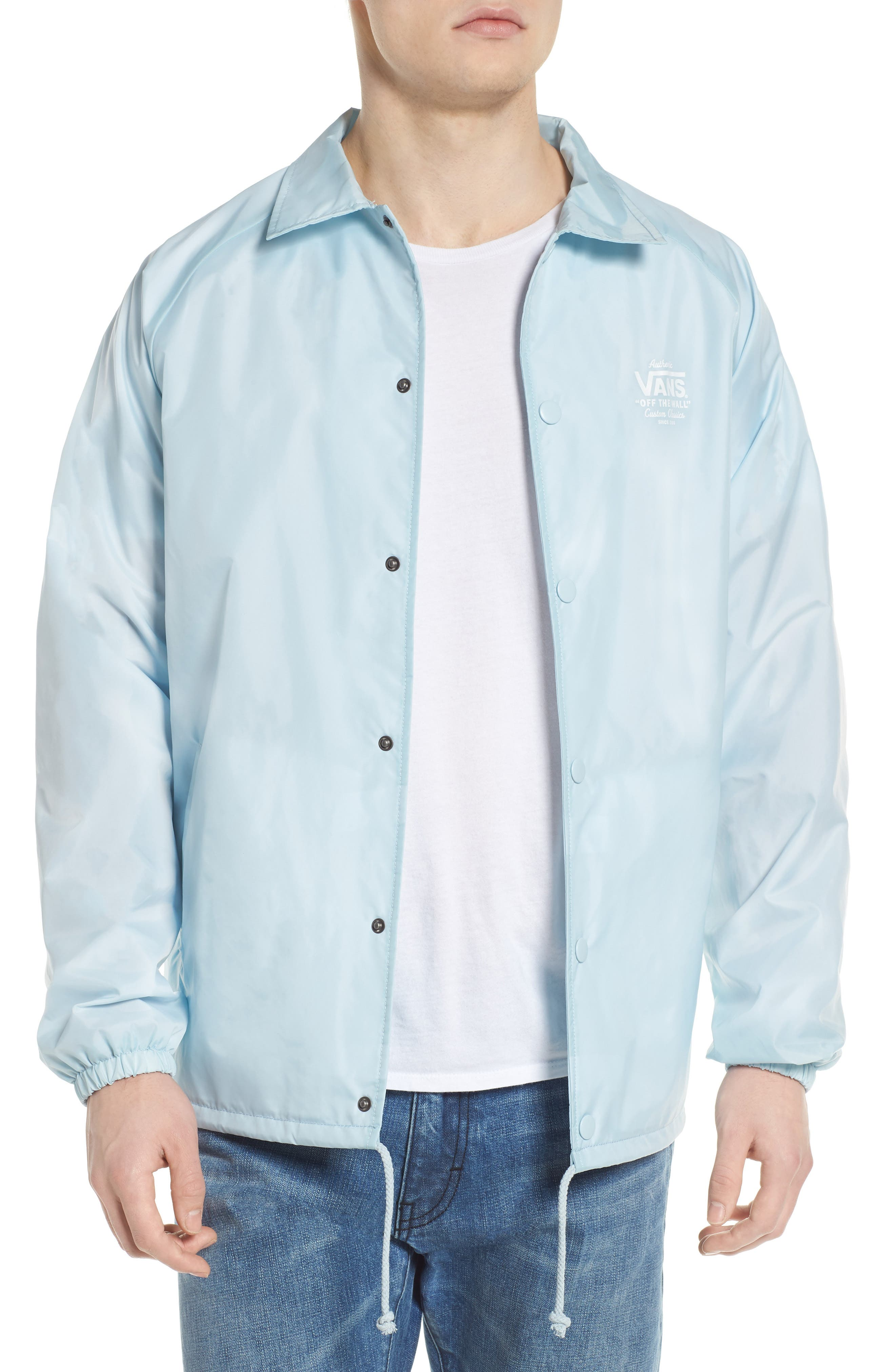 Torrey Water Resistant Jacket,                             Main thumbnail 1, color,                             Baby Blue