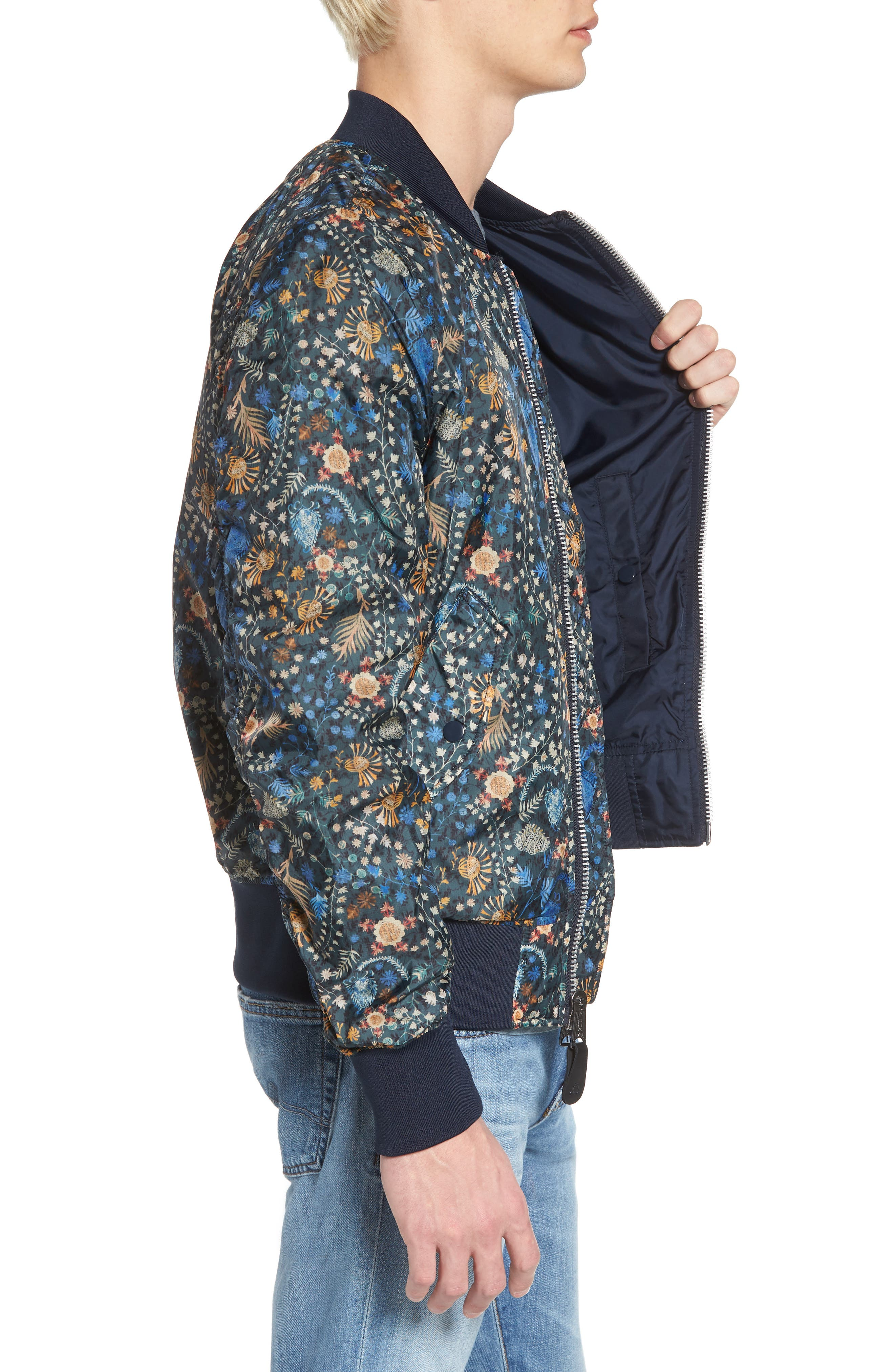 Liberty X L-2B Scout Bomber Jacket,                             Alternate thumbnail 3, color,                             Croquette Meadow