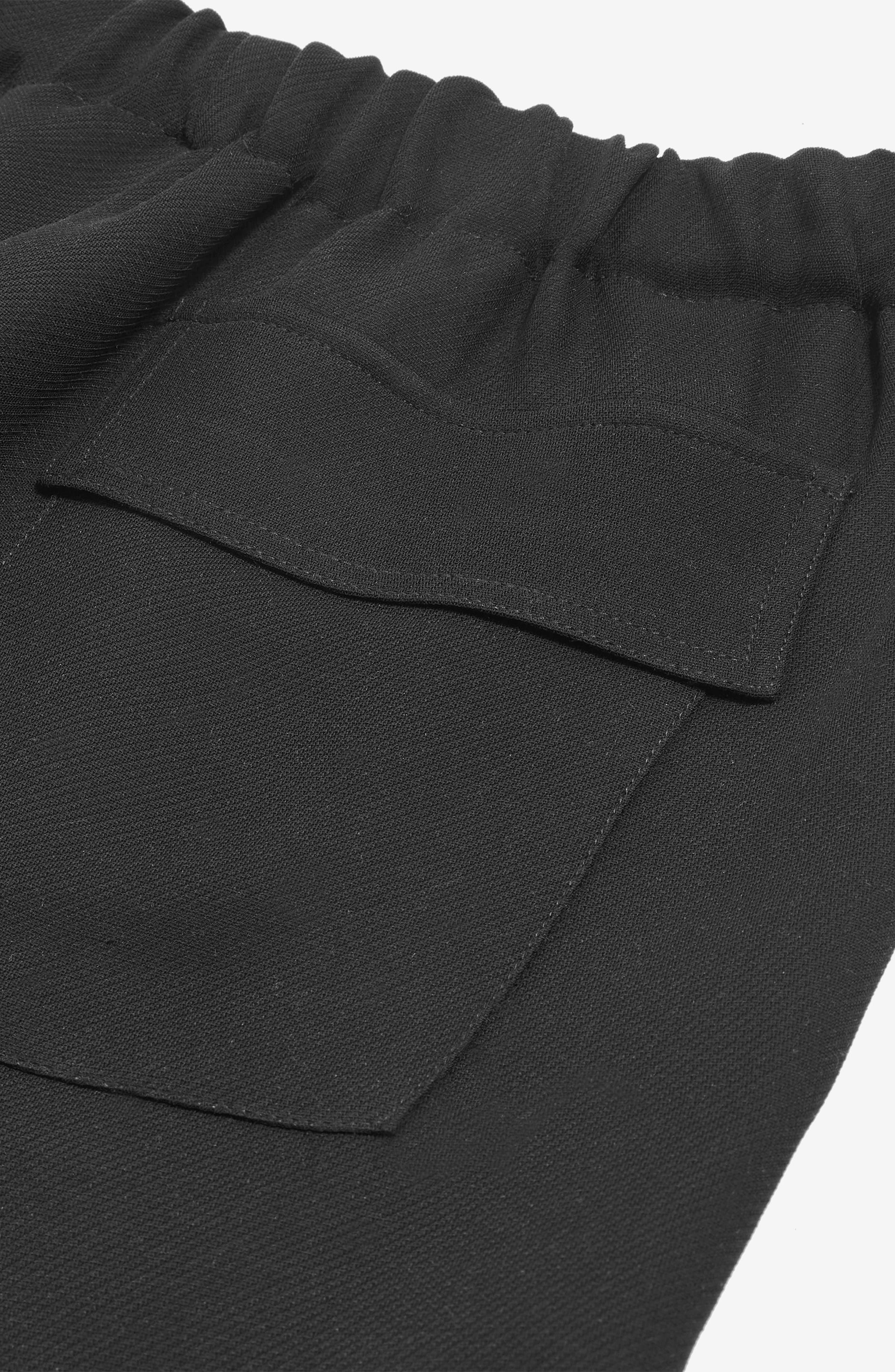 Drawcord Jogger Pants,                             Alternate thumbnail 3, color,                             Black