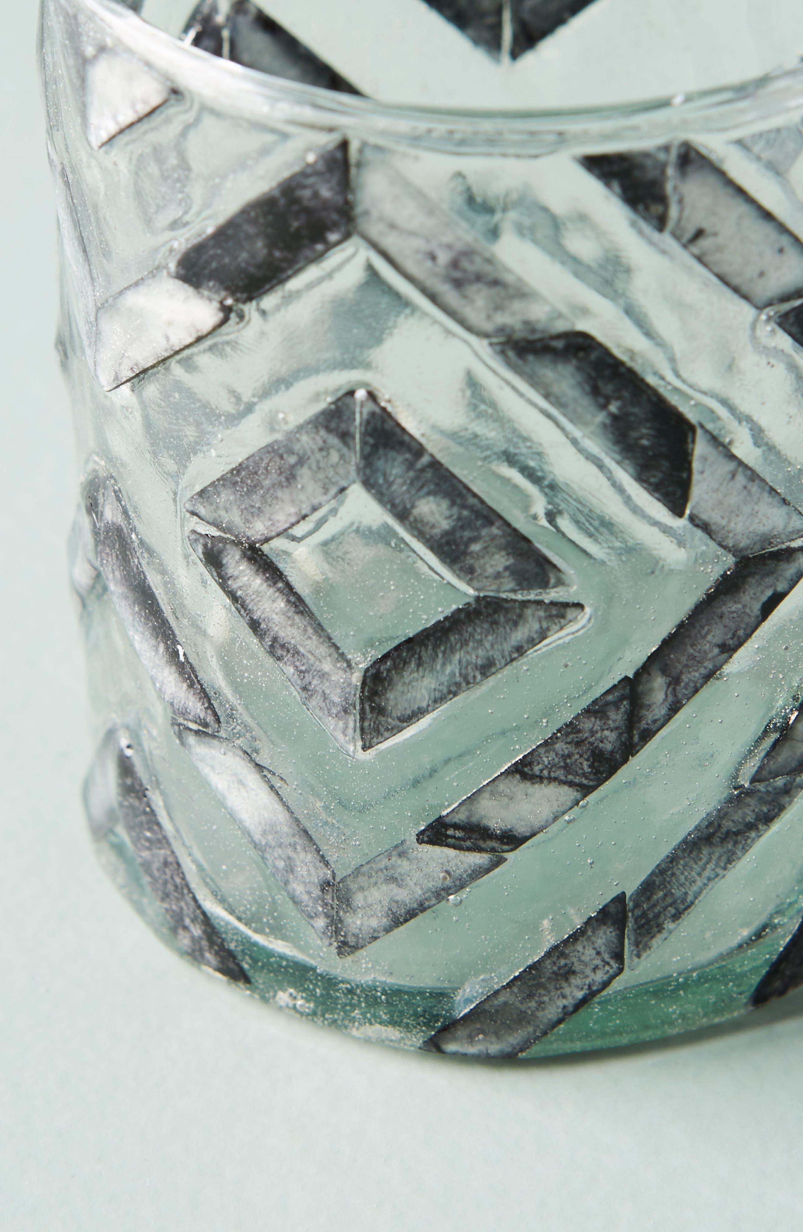 Herringbone Capiz Votive Candleholder,                             Alternate thumbnail 2, color,                             Dark Grey