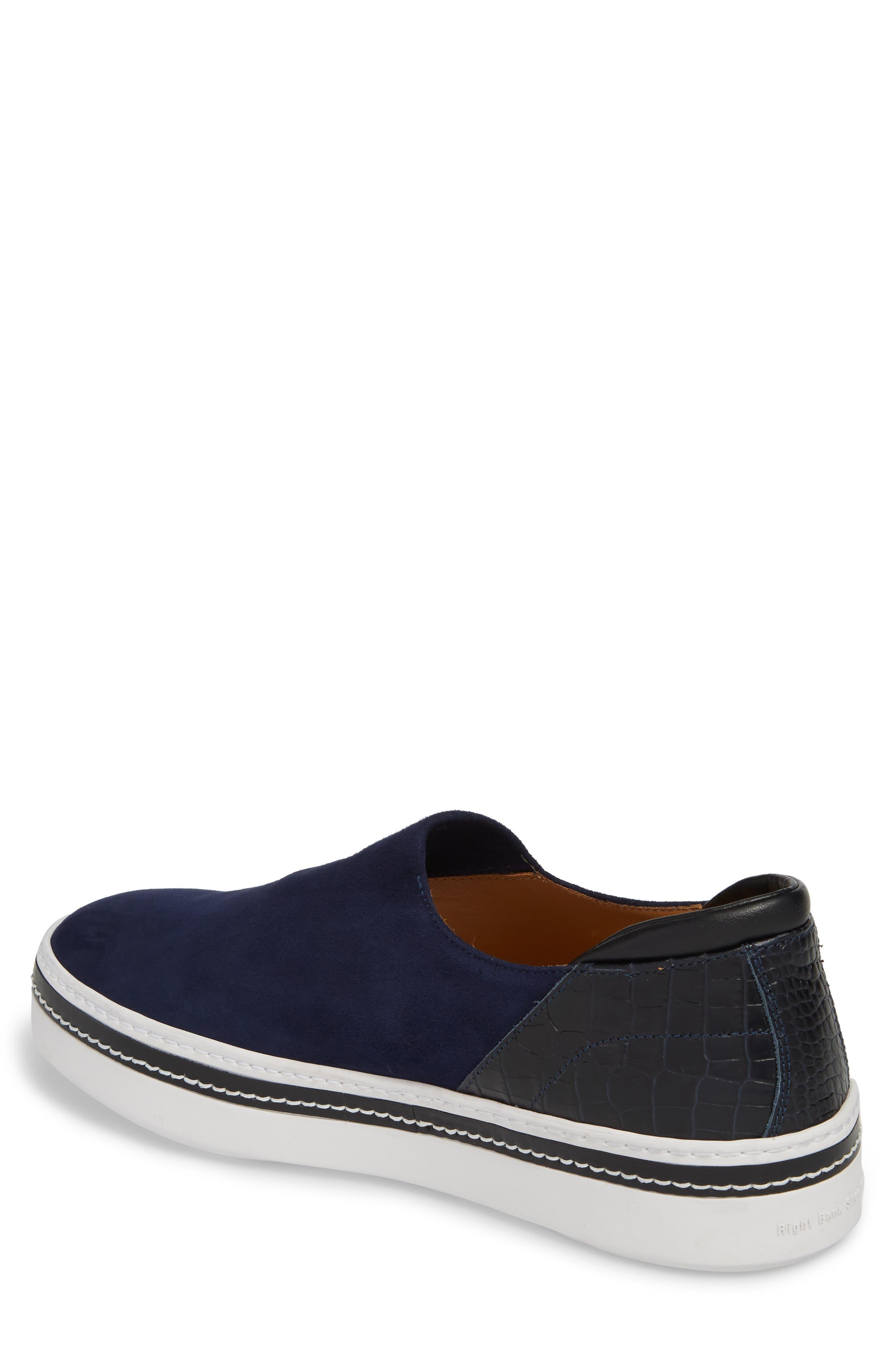 Stan Slip-On Sneaker,                             Alternate thumbnail 2, color,                             Midnight Blue Suede