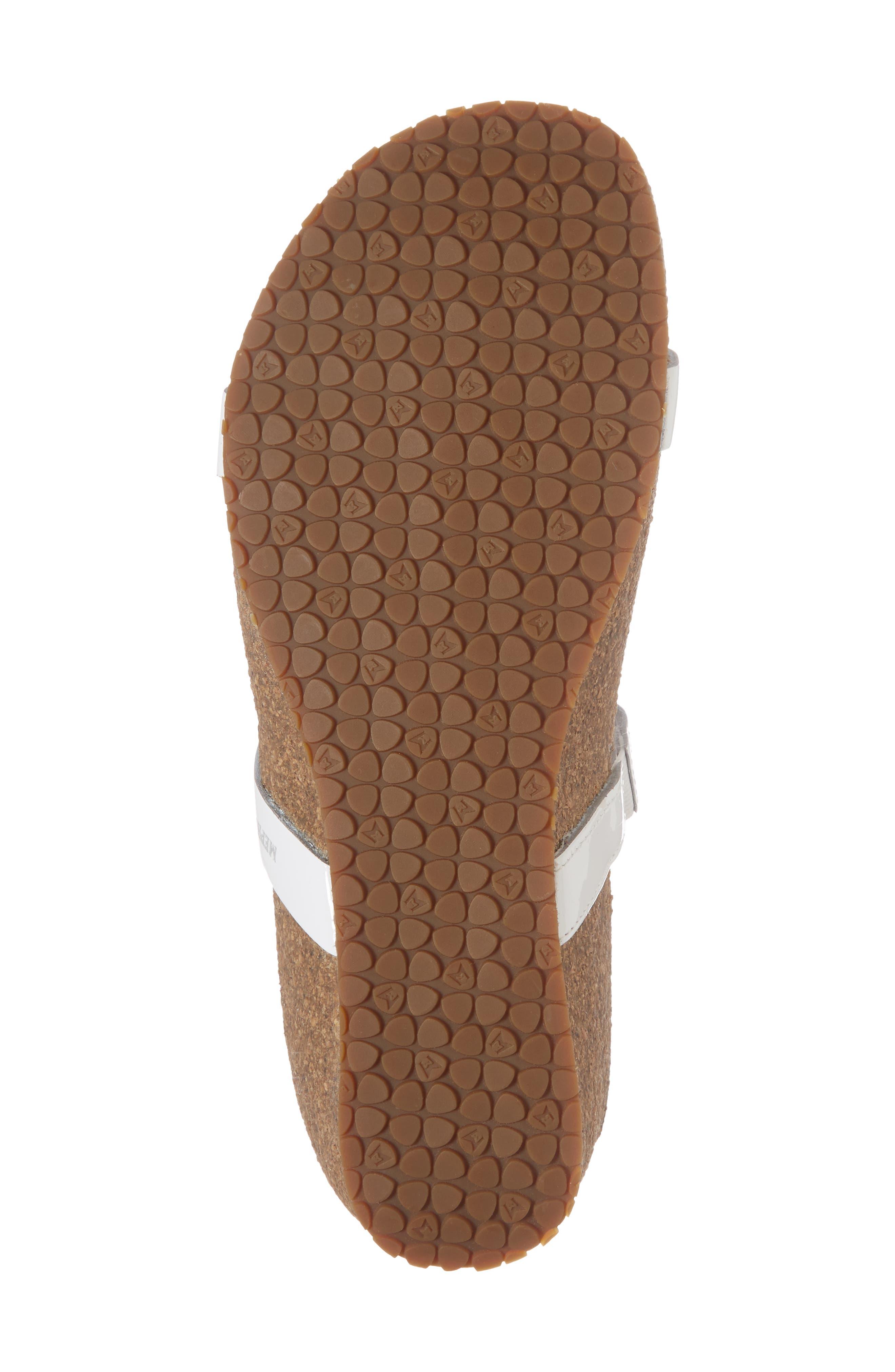 'Ivana' Crystal Embellished Slide Sandal,                             Alternate thumbnail 6, color,                             White Patent