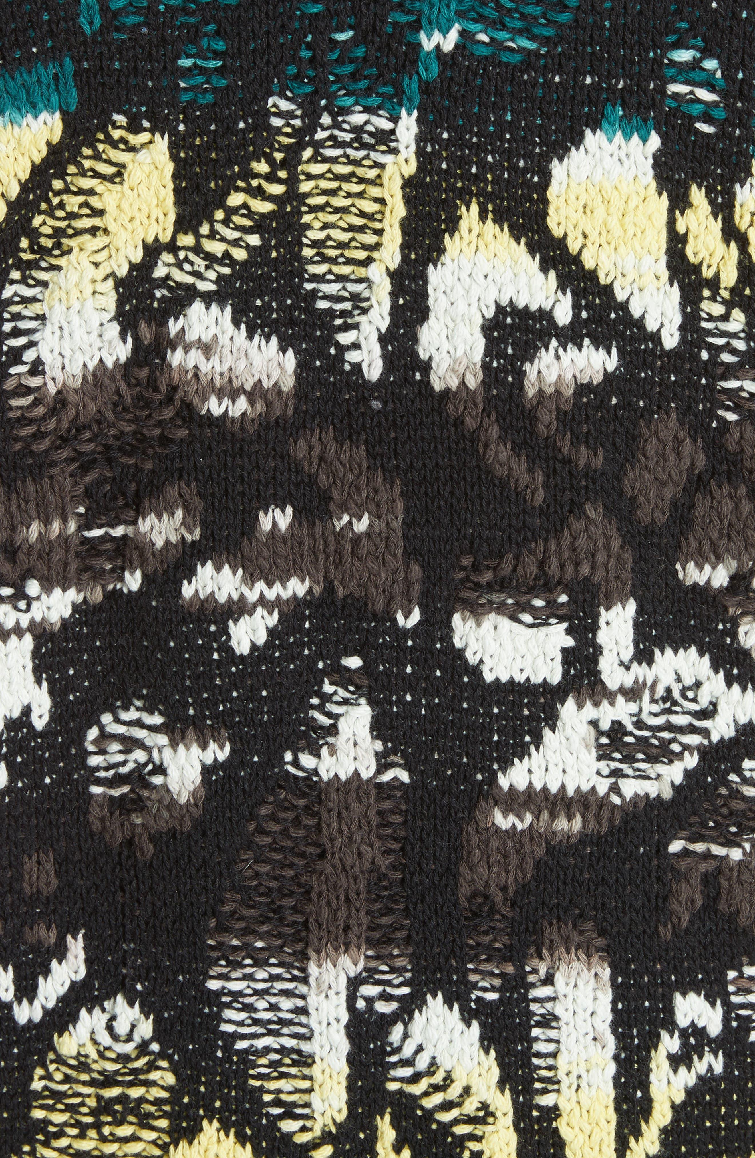 Think Twice Cardigan,                             Alternate thumbnail 5, color,                             Black Combo