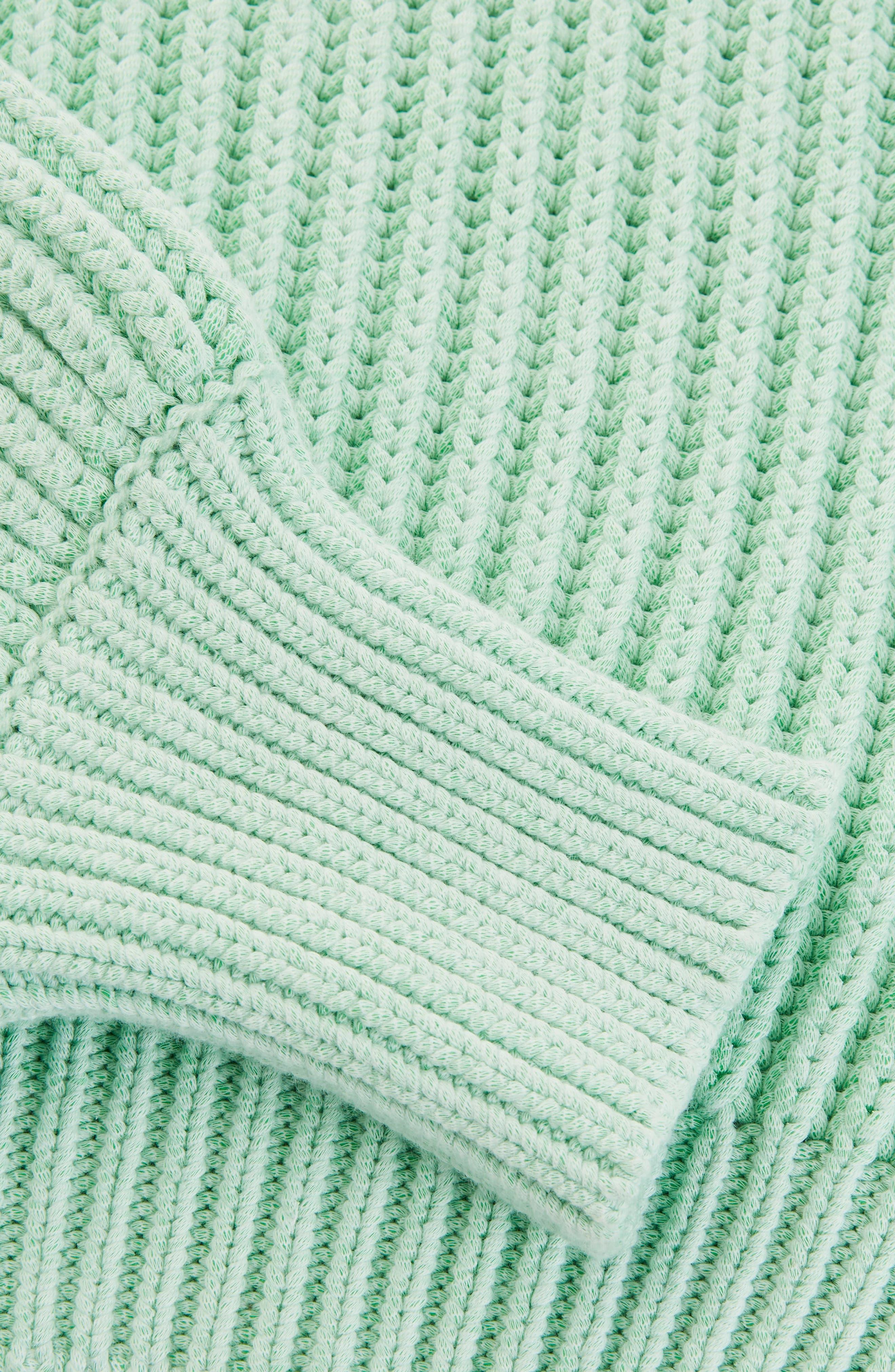 Fisherman Crewneck Sweater,                             Alternate thumbnail 5, color,                             Light Green