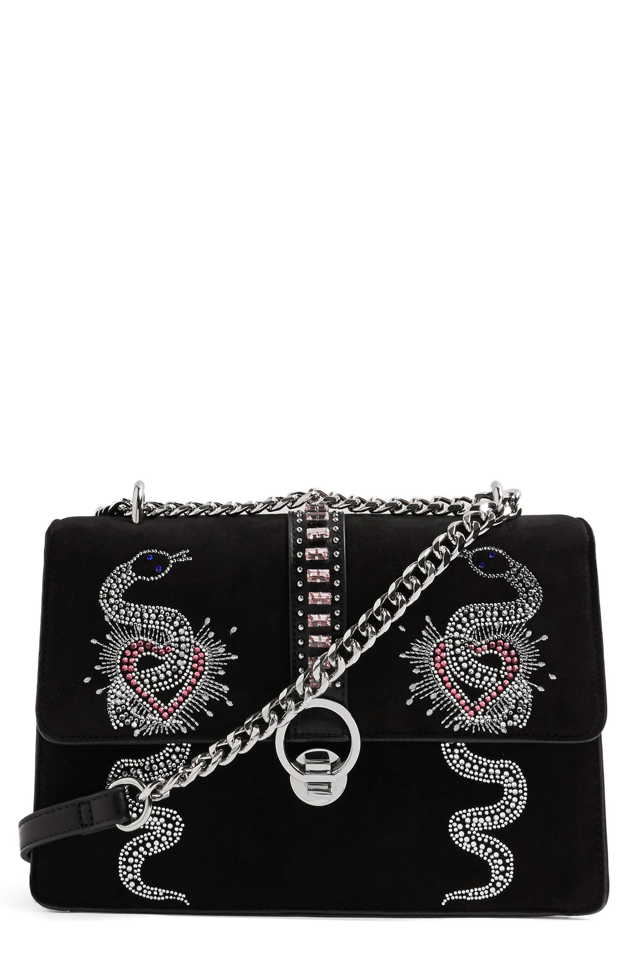 Topshop Sassy Snake Gem Shoulder Bag