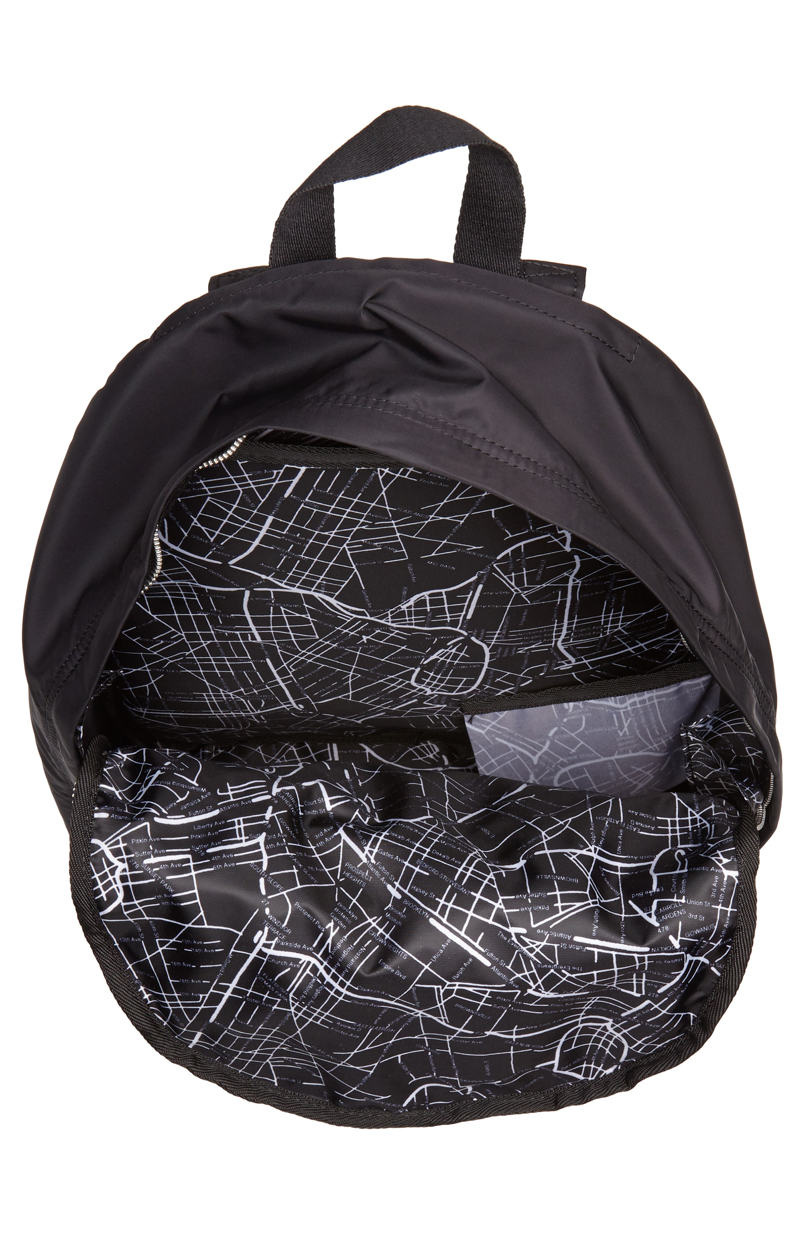 The Heights Lorimer Backpack,                             Alternate thumbnail 4, color,                             Black Stripe