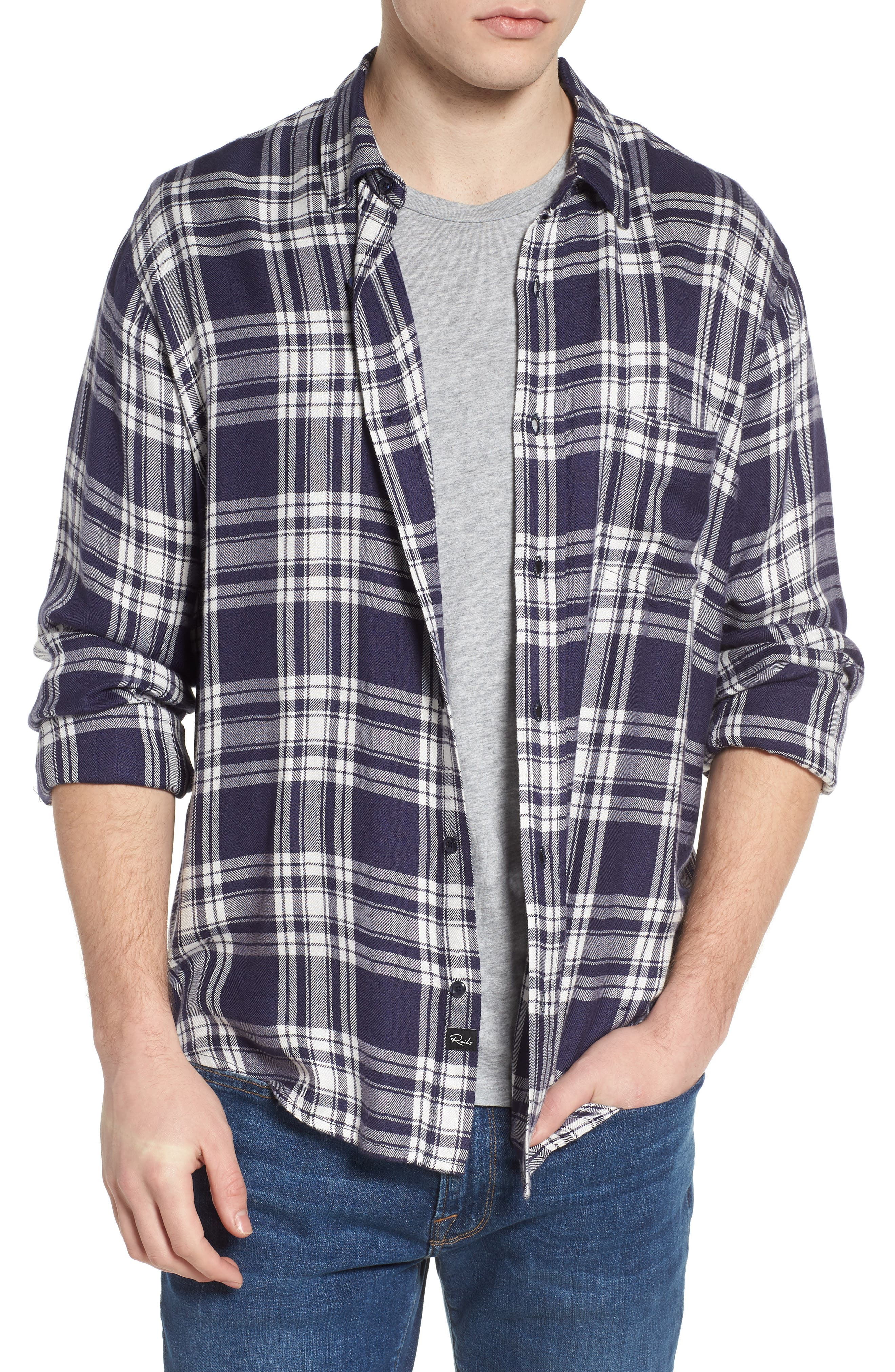 Lennox Slim Fit Plaid Sport Shirt,                             Main thumbnail 1, color,                             Arctic White