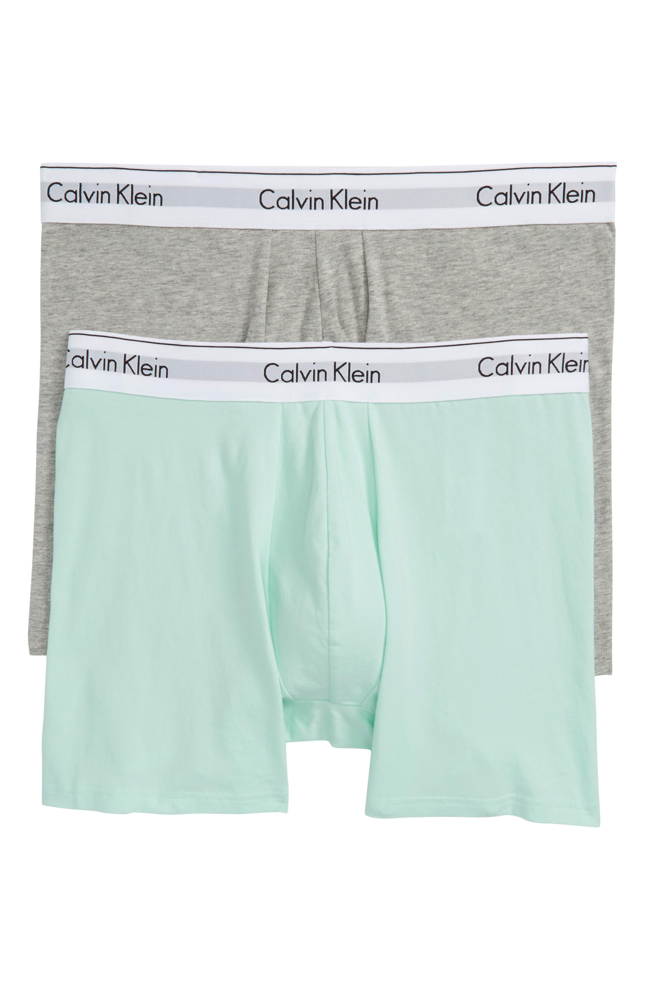 Calvin Klein Modern Assorted 2-Pack Stretch Cotton Boxer Briefs