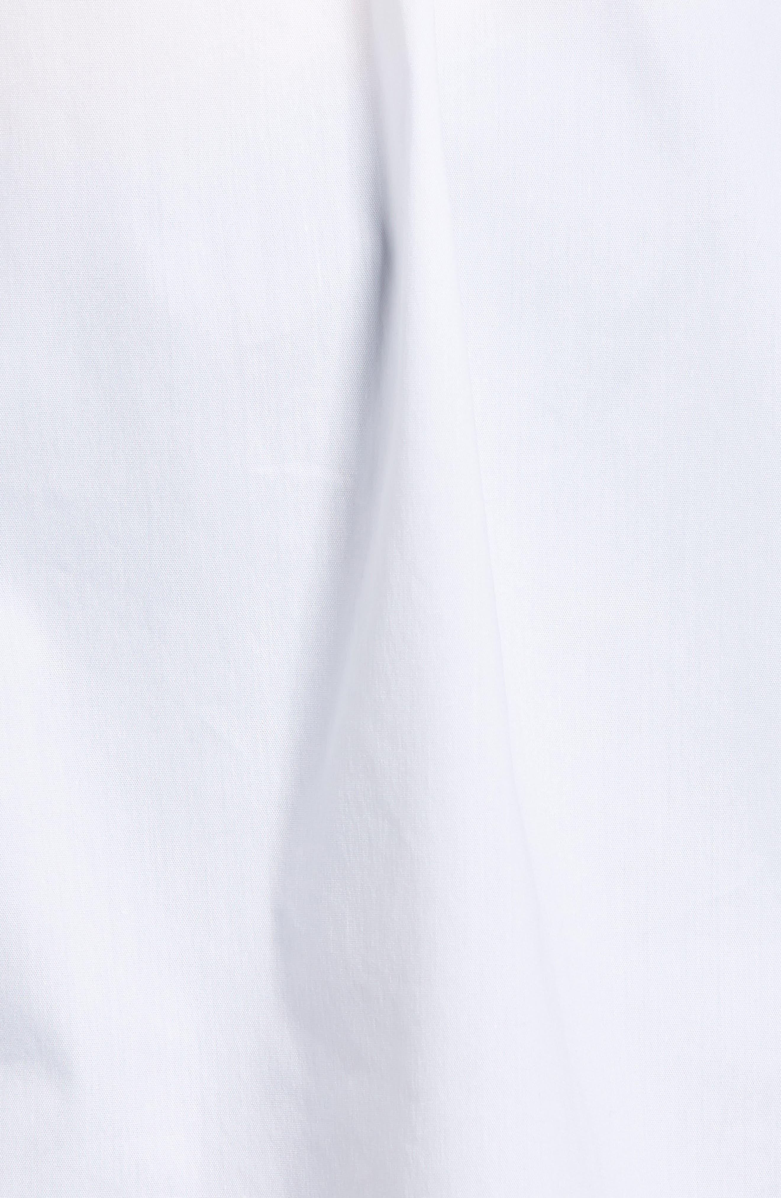 Smocked Corset Shirt,                             Alternate thumbnail 6, color,                             White