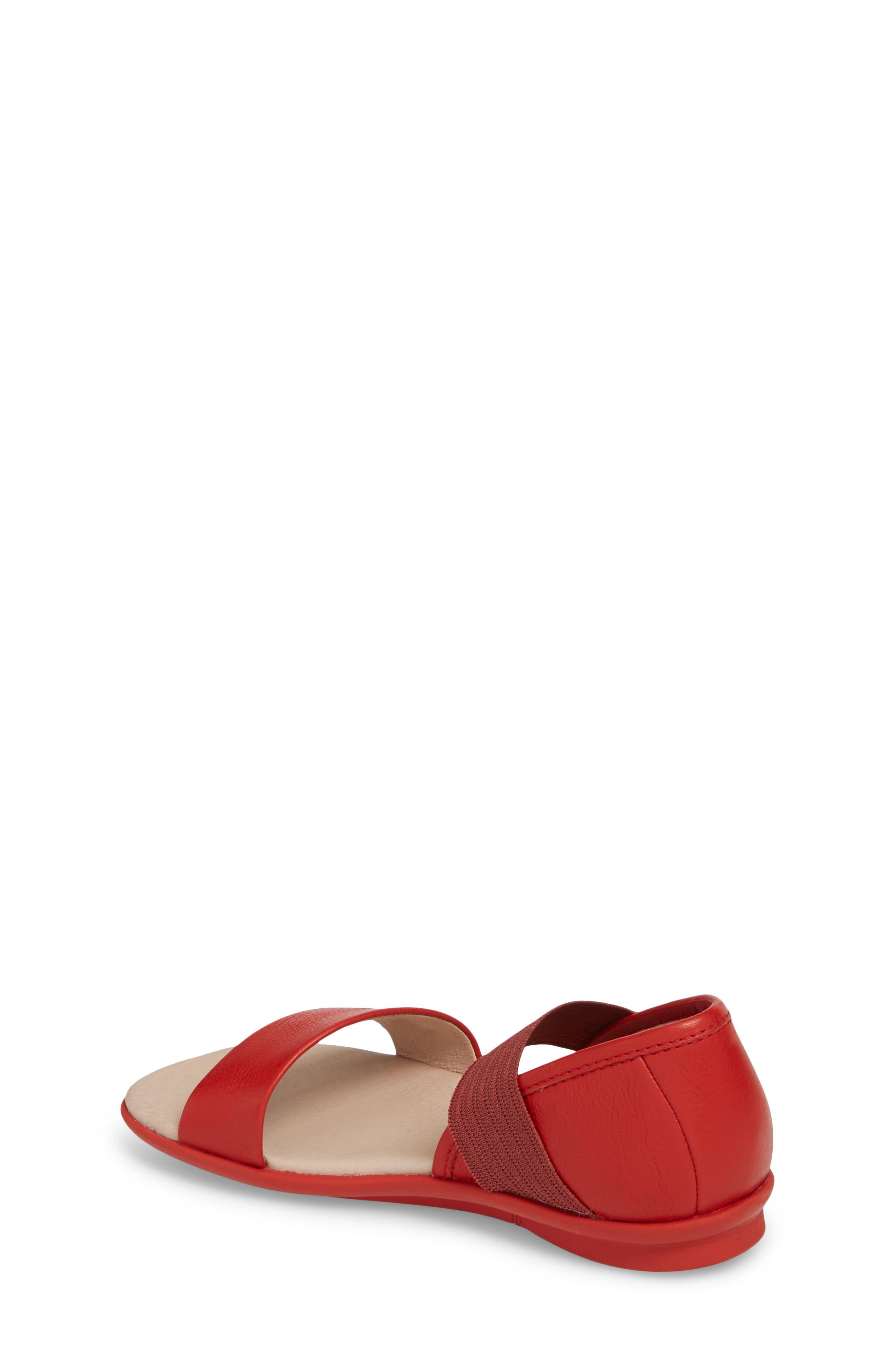 Right Sandal,                             Alternate thumbnail 2, color,                             Red