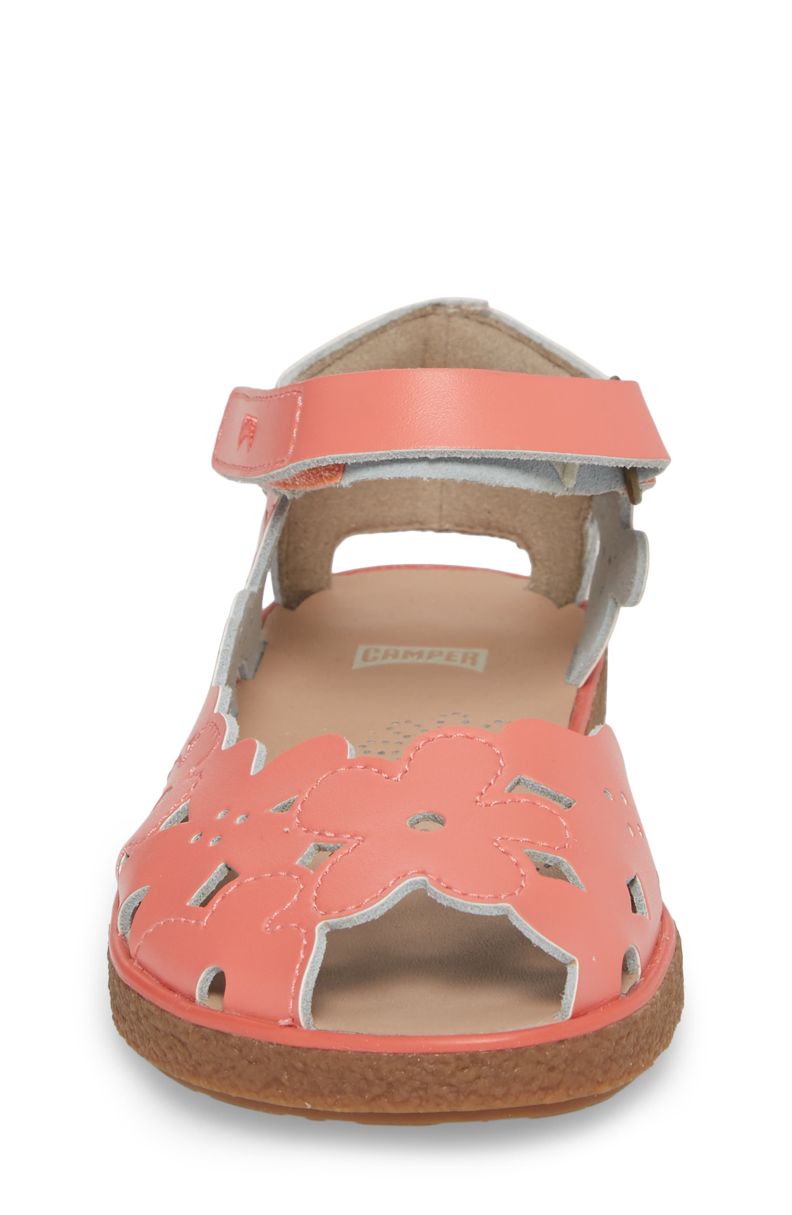 Twins Perforated Sandal,                             Alternate thumbnail 4, color,                             Pink