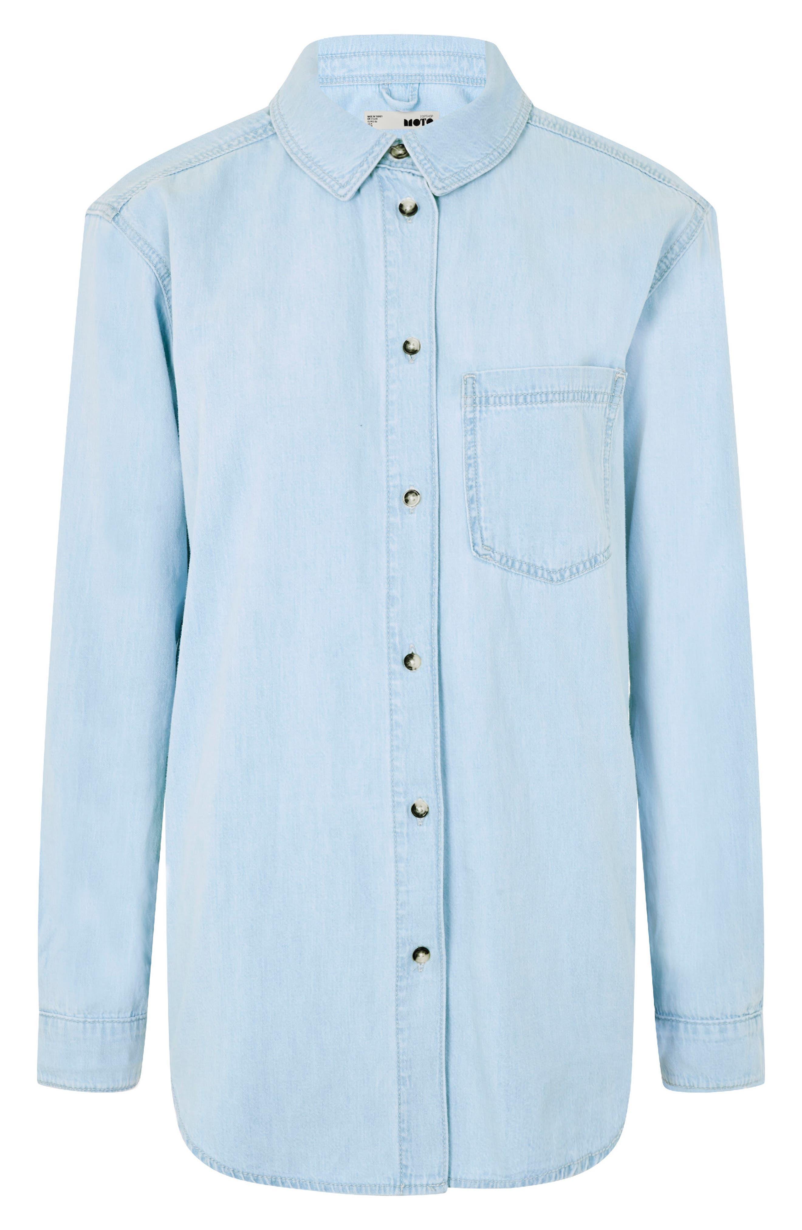 Alternate Image 1 Selected - Topshop Drake Oversize Denim Shirt