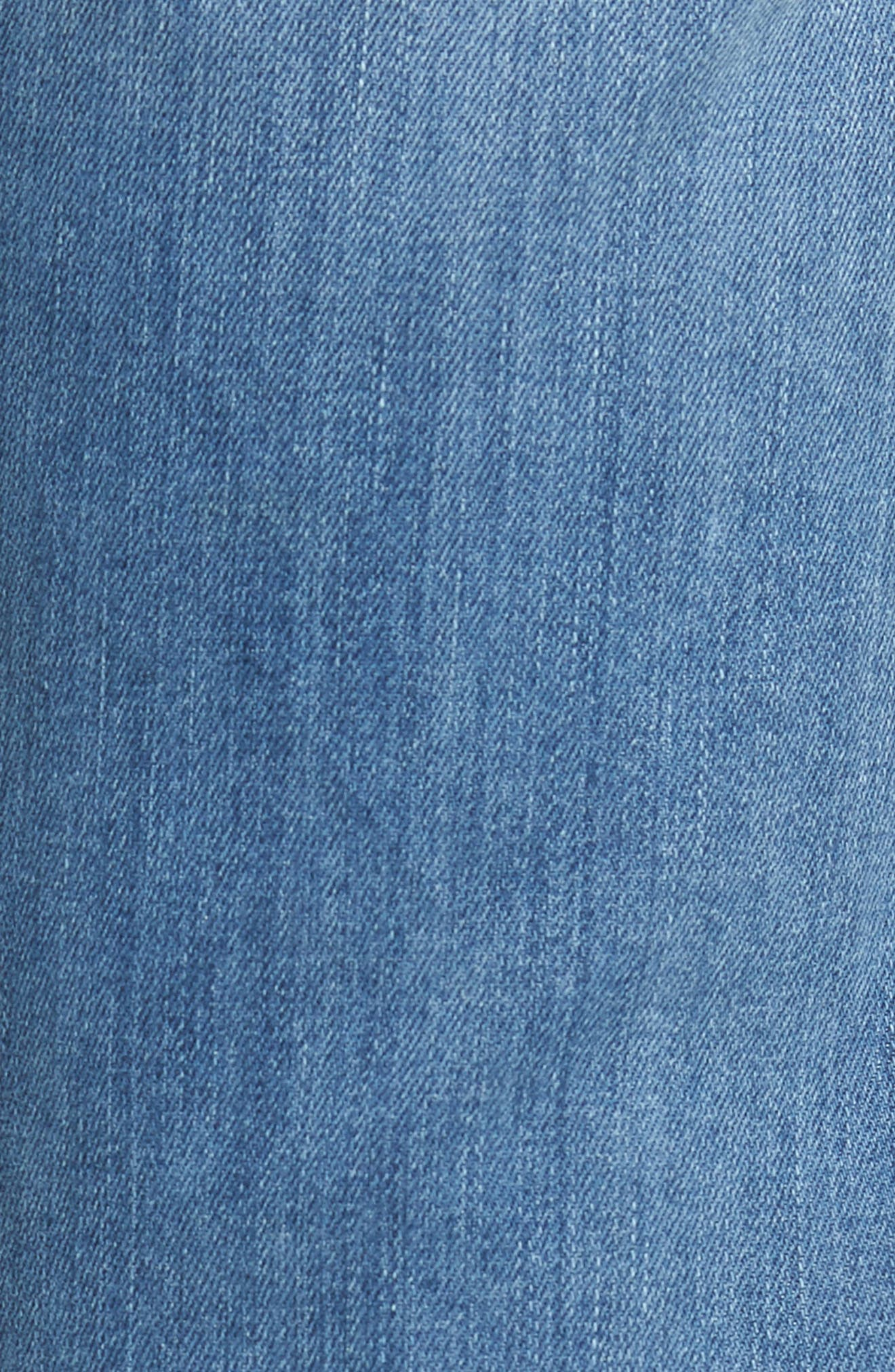 Jimmy Slim Straight Fit Jeans,                             Alternate thumbnail 5, color,                             Brixton Blue
