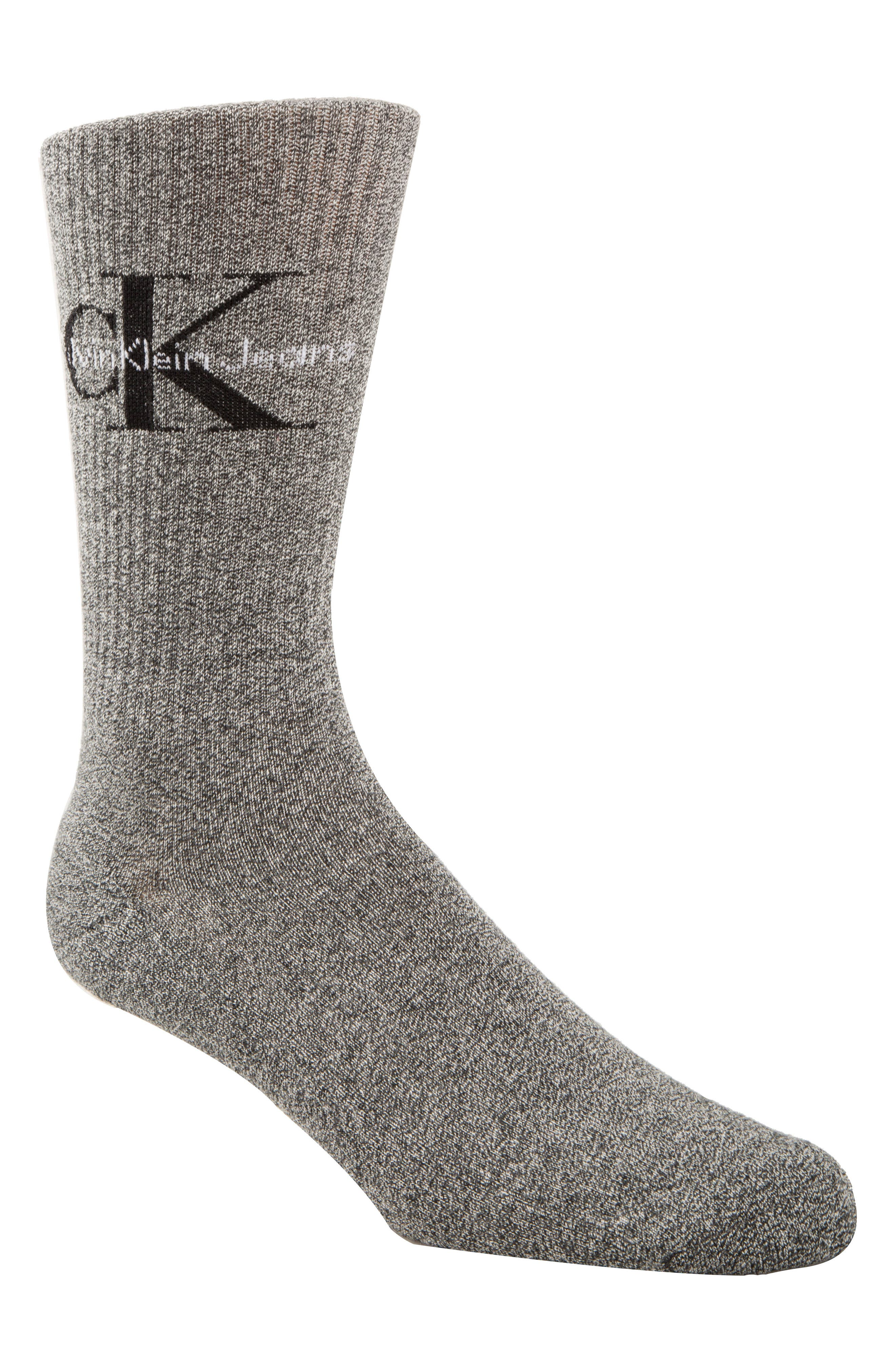Alternate Image 1 Selected - Calvin Klein Logo Socks