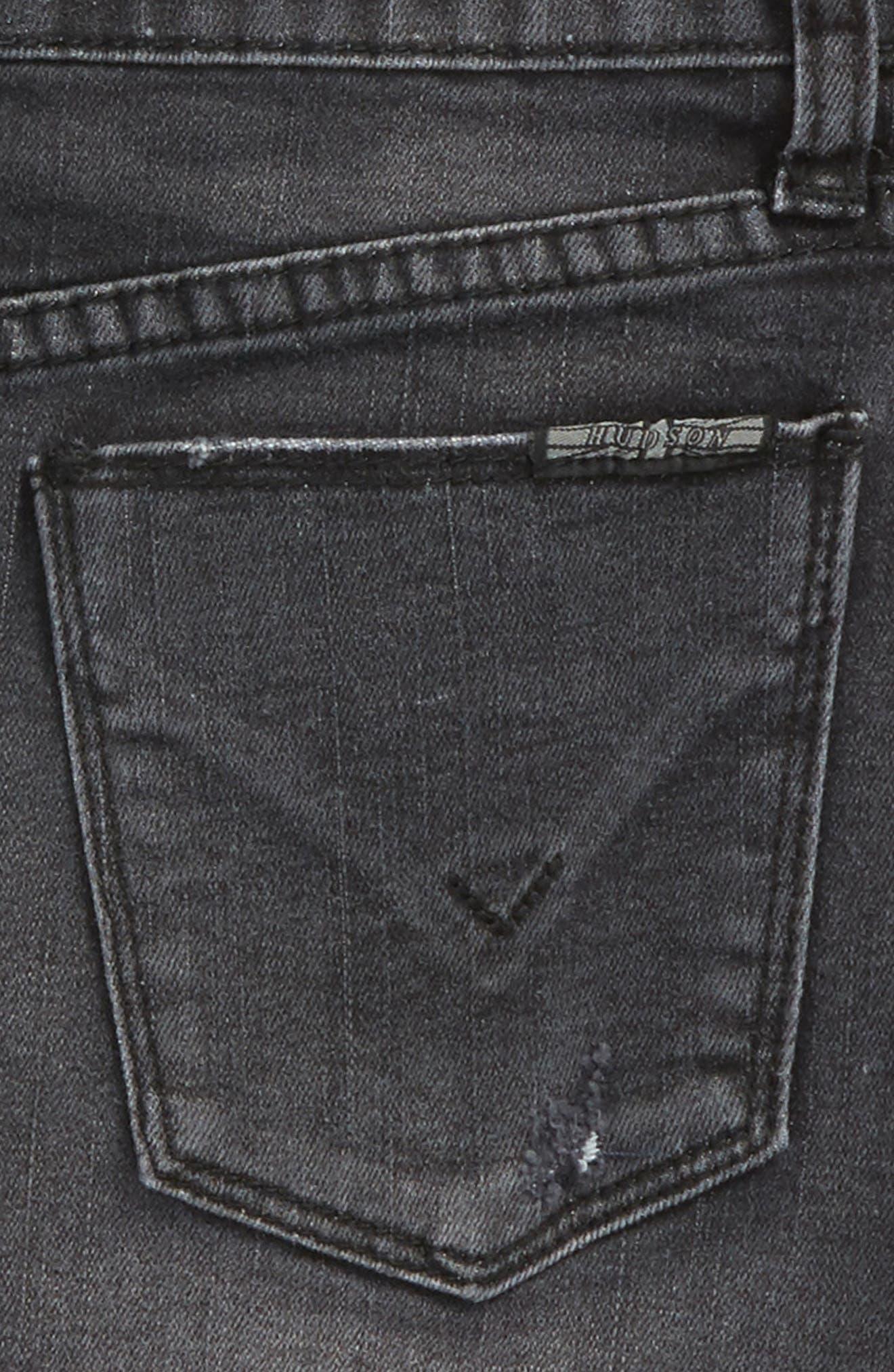 Tara Cutoff Denim Skirt,                             Alternate thumbnail 3, color,                             Black Wash
