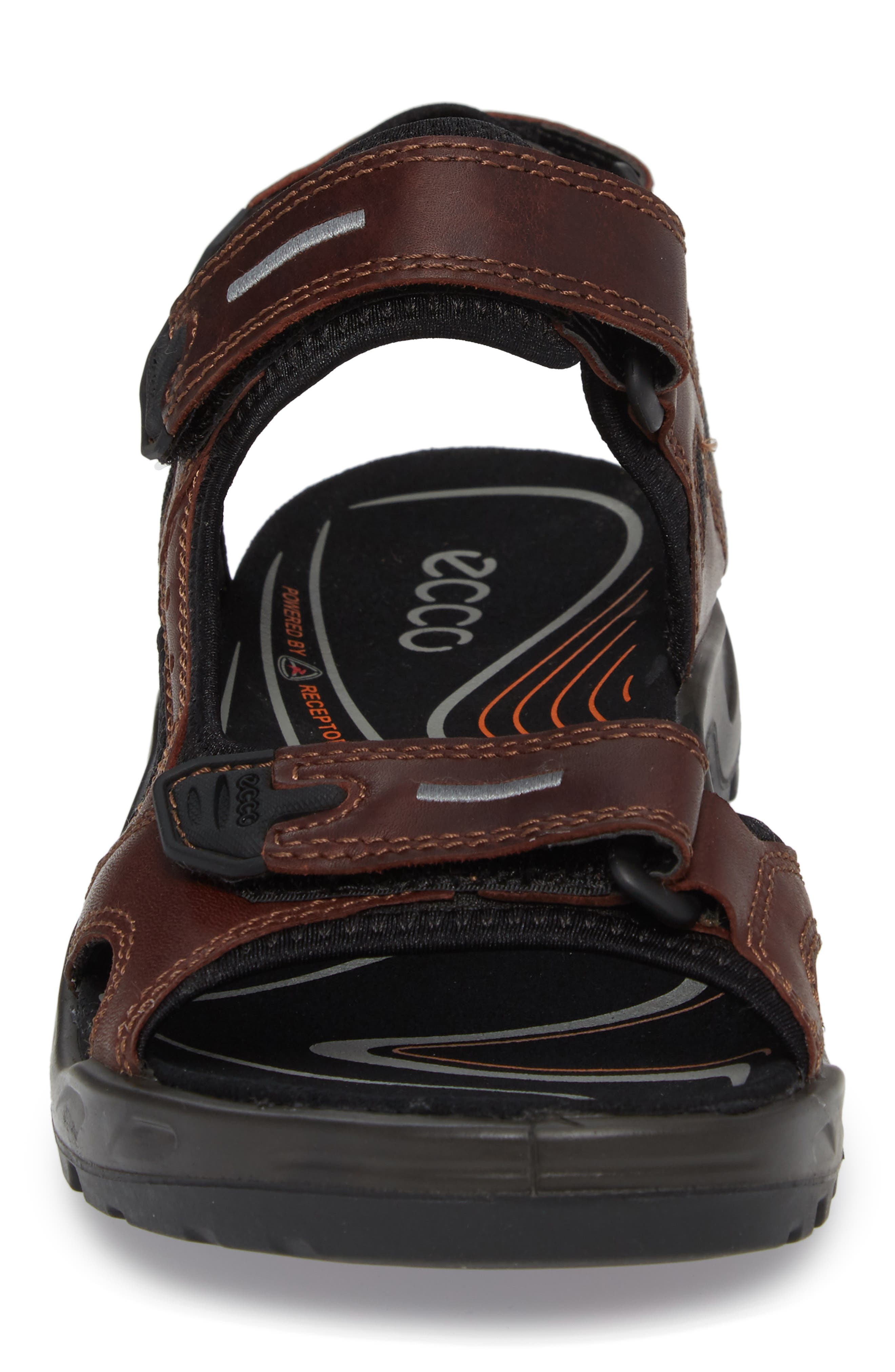 Offroad Sport Sandal,                             Alternate thumbnail 4, color,                             Brandy Leather