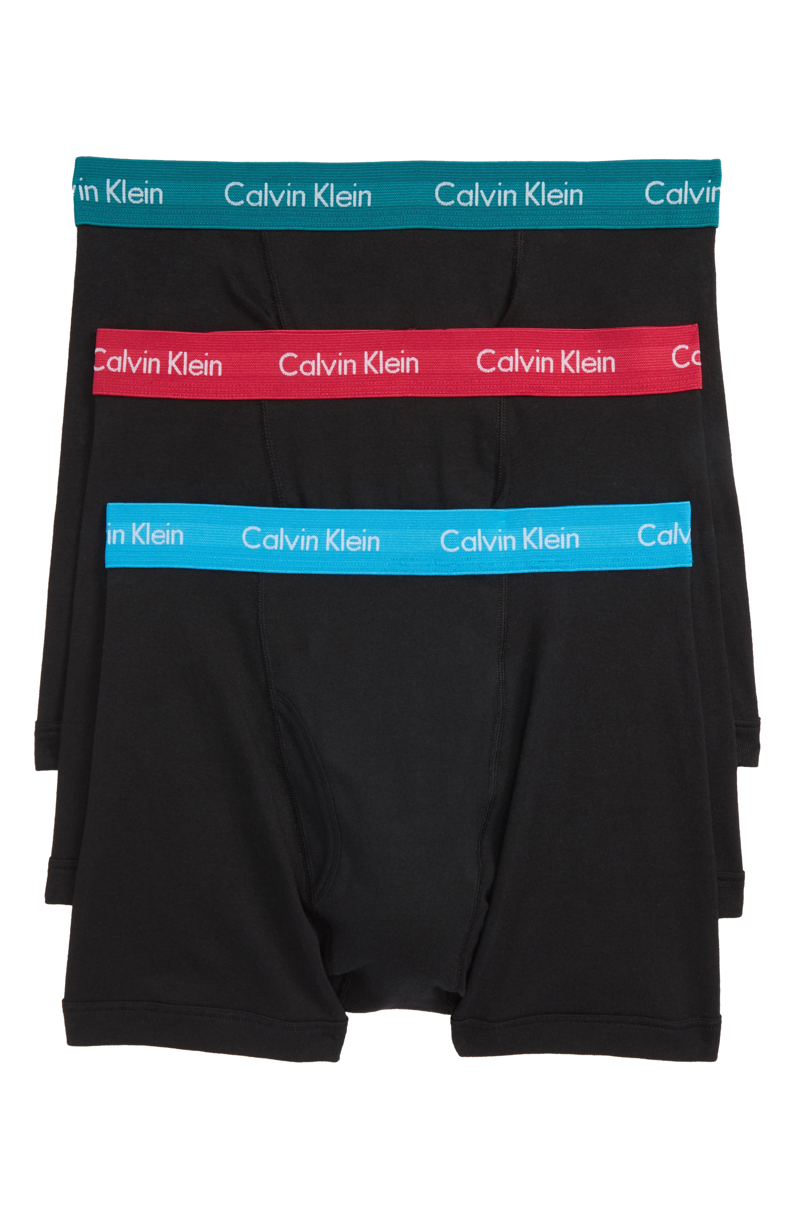 3-Pack Boxer Briefs,                         Main,                         color, Black W/ Blue/ Green/ Amaranth