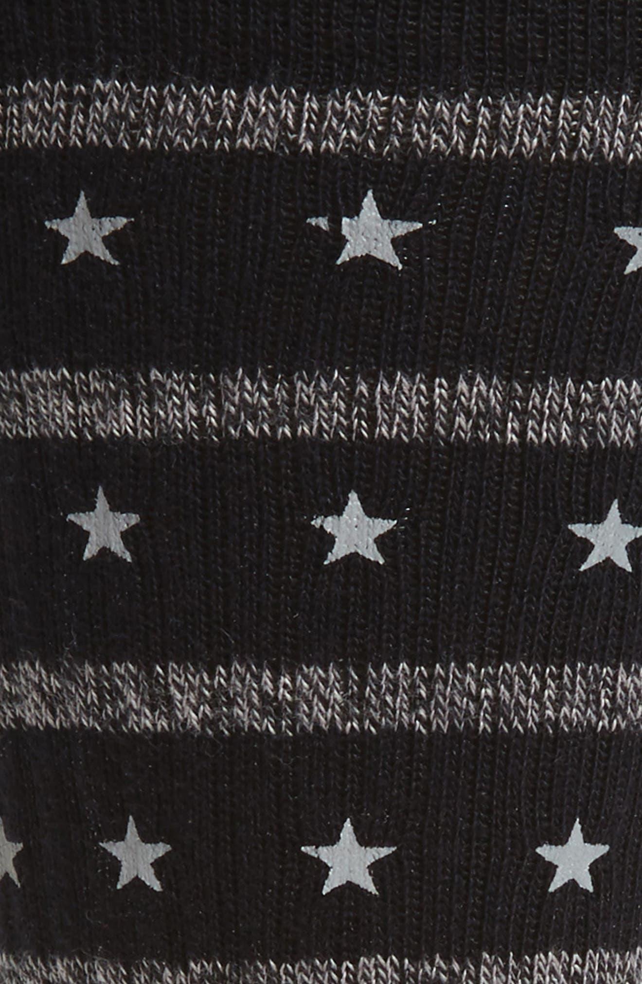 Stacked Socks,                             Alternate thumbnail 2, color,                             Black