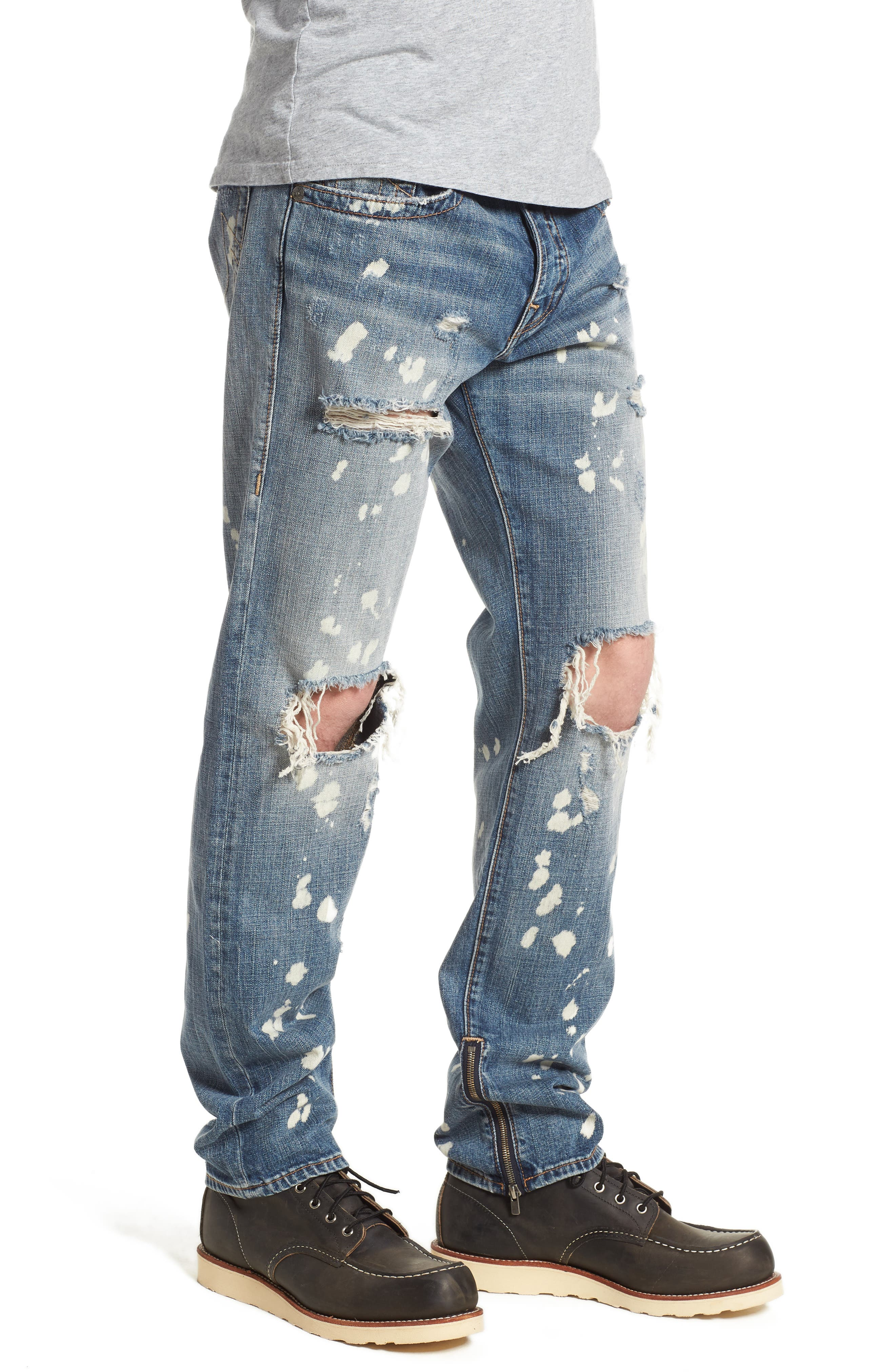 Rocco Skinny Fit Jeans,                             Alternate thumbnail 3, color,                             Cyber Rebel