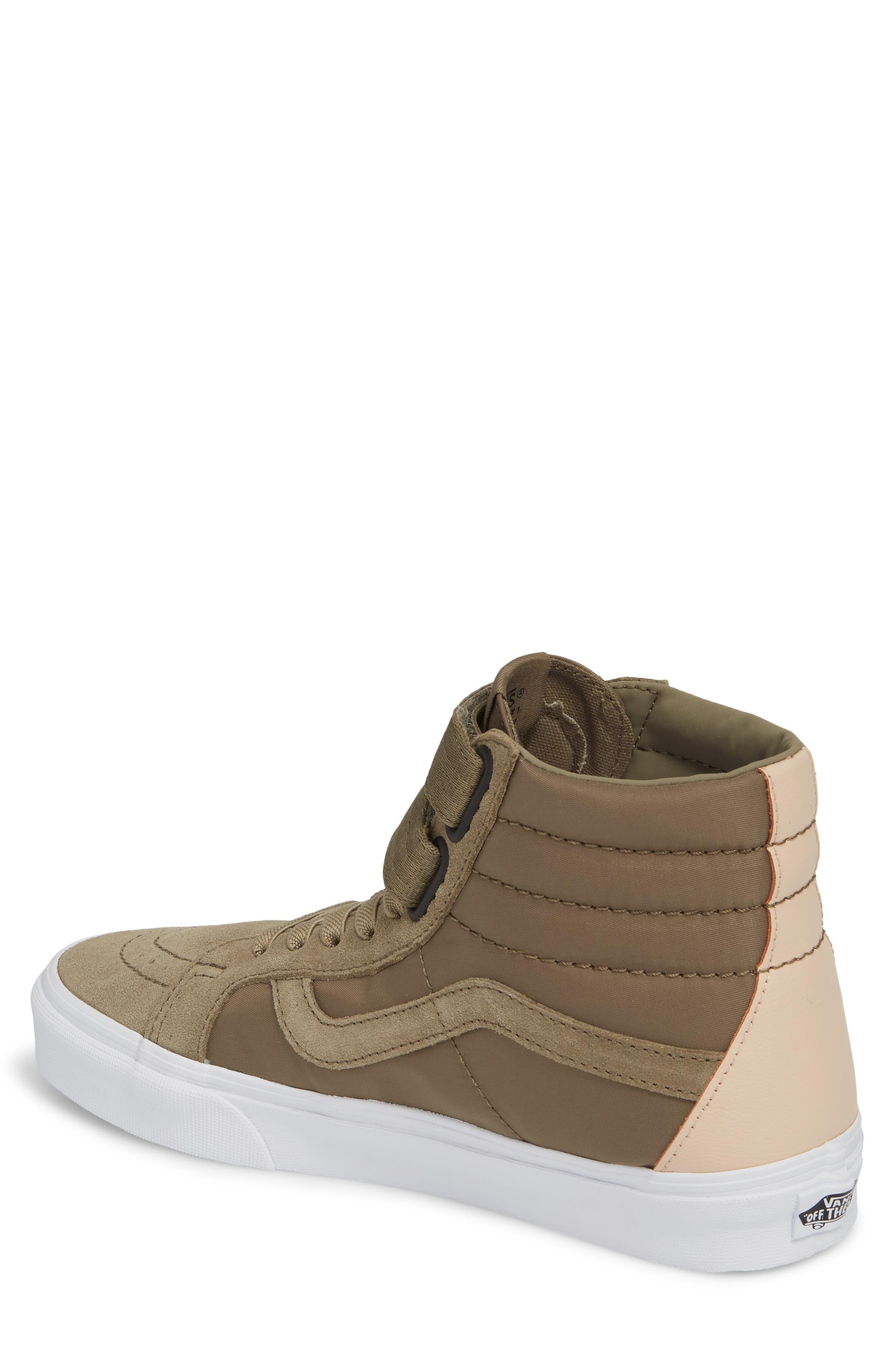Sk8-Hi Reissue V Sneaker,                             Alternate thumbnail 2, color,                             Dusky Green Leather