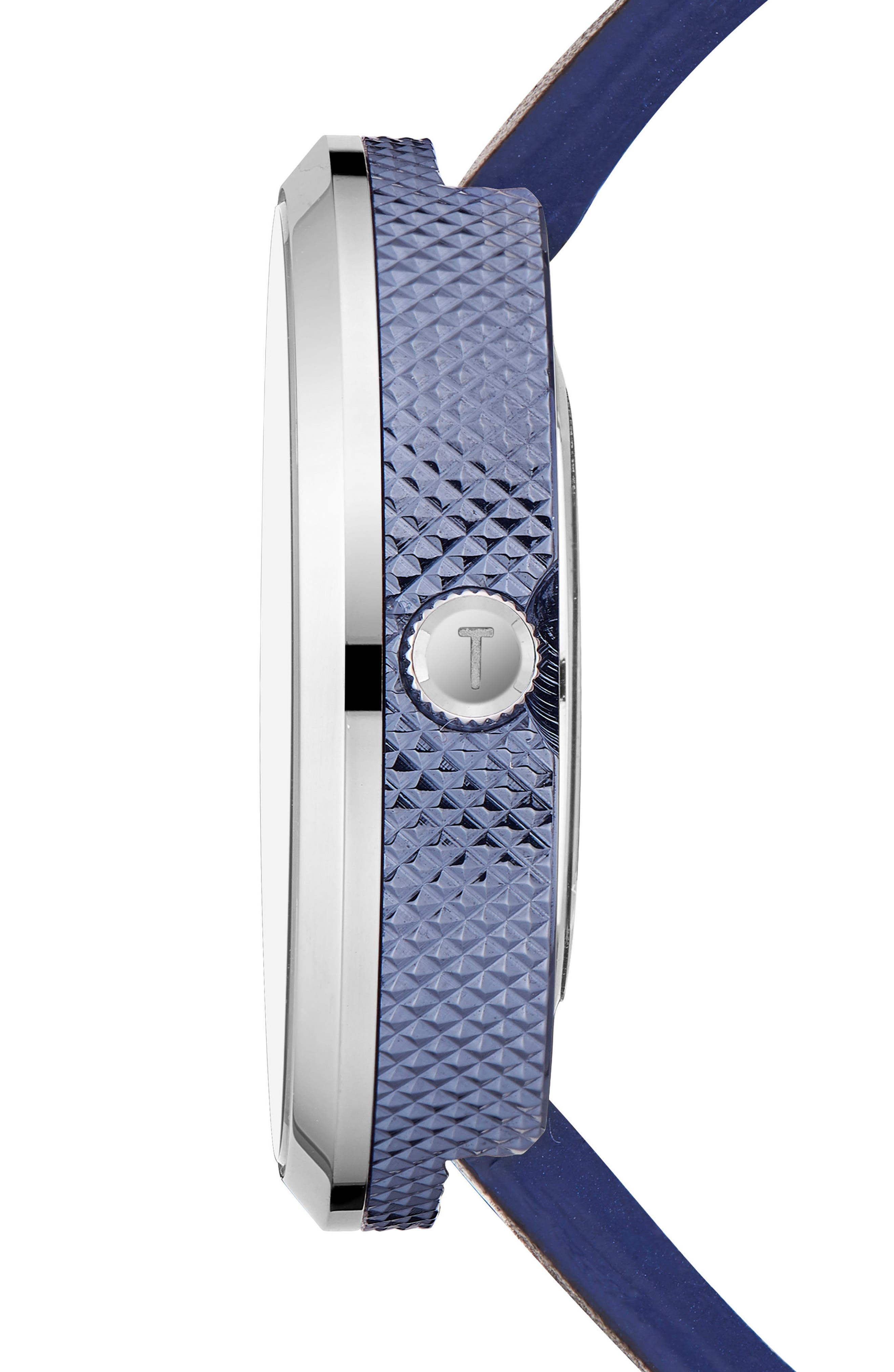Josh Leather Strap Watch, 42mm,                             Alternate thumbnail 2, color,                             Dark Blue/ Black