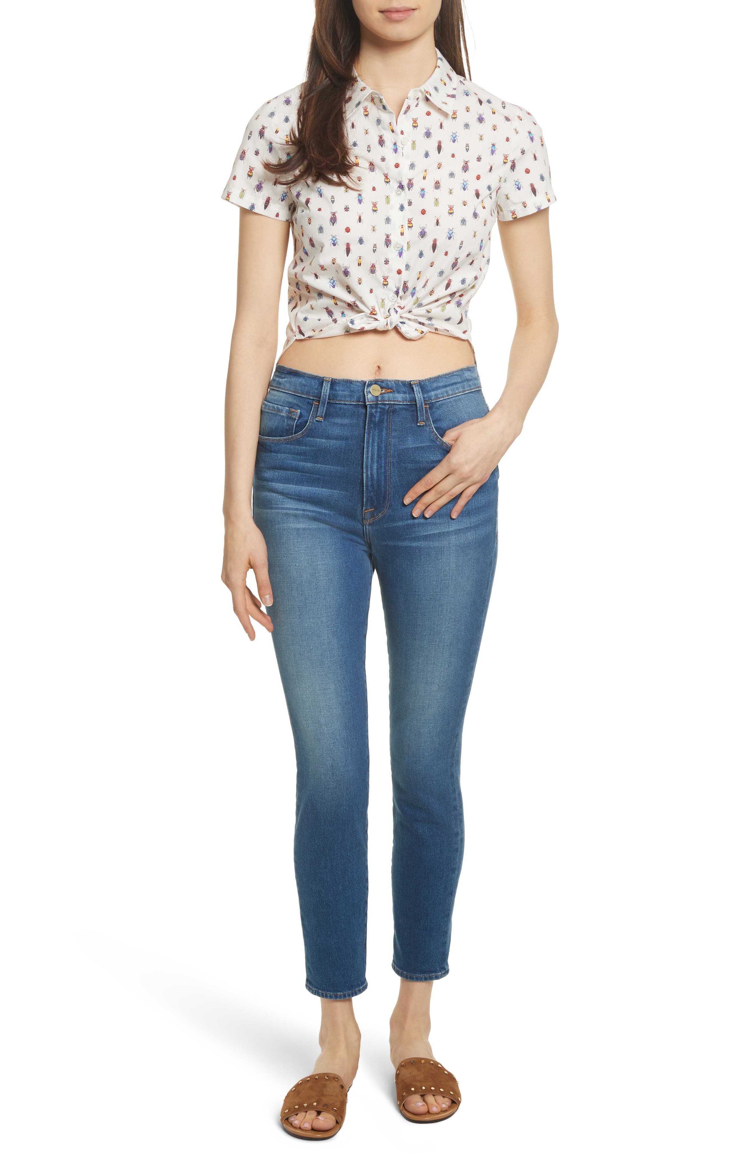 Ali High Waist Skinny Cigarette Jeans,                             Alternate thumbnail 2, color,                             Olympus