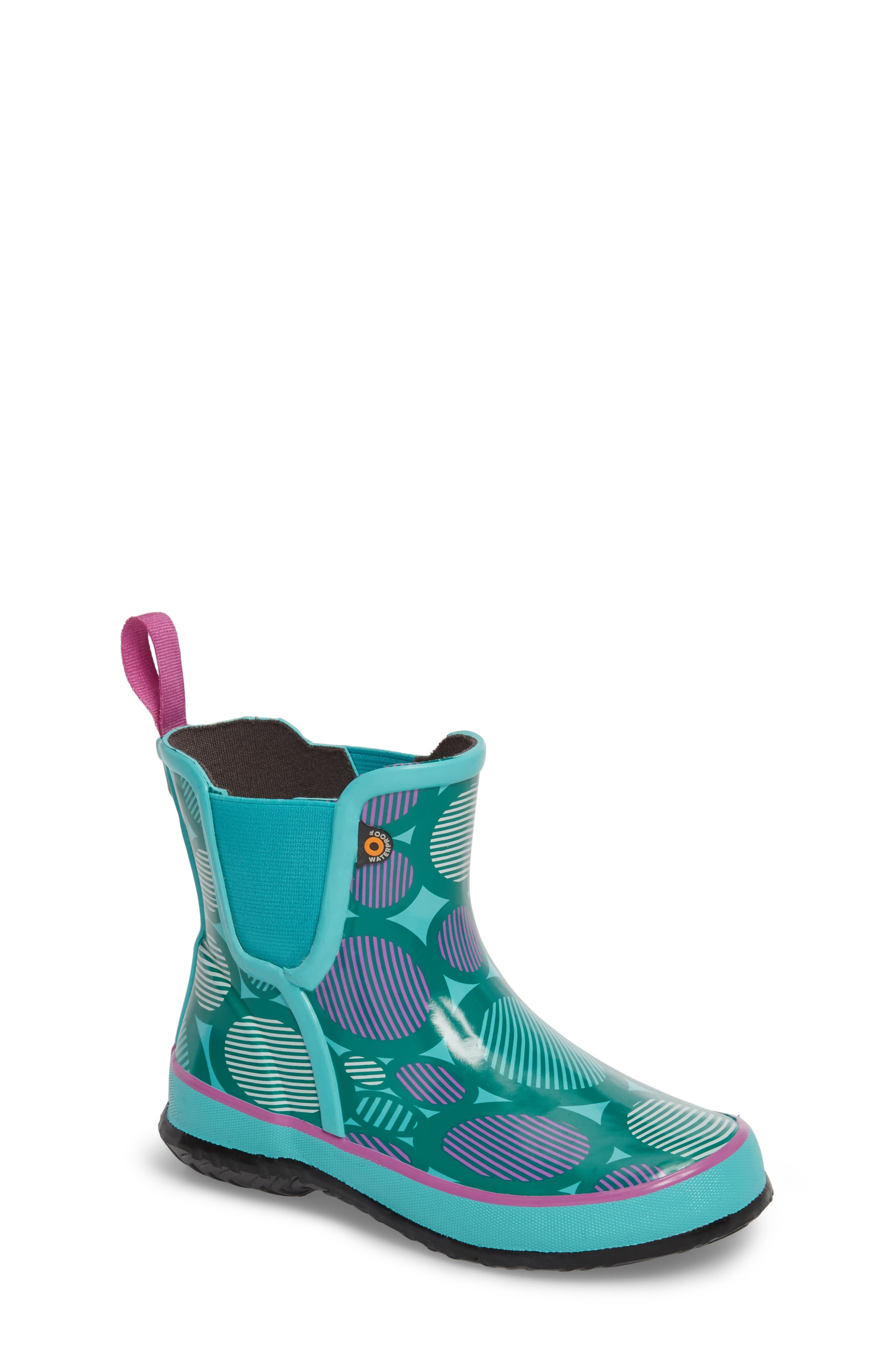 Bogs Amanda Multi Dot Waterproof Rain Boot (Walker, Toddler & Little Kid)