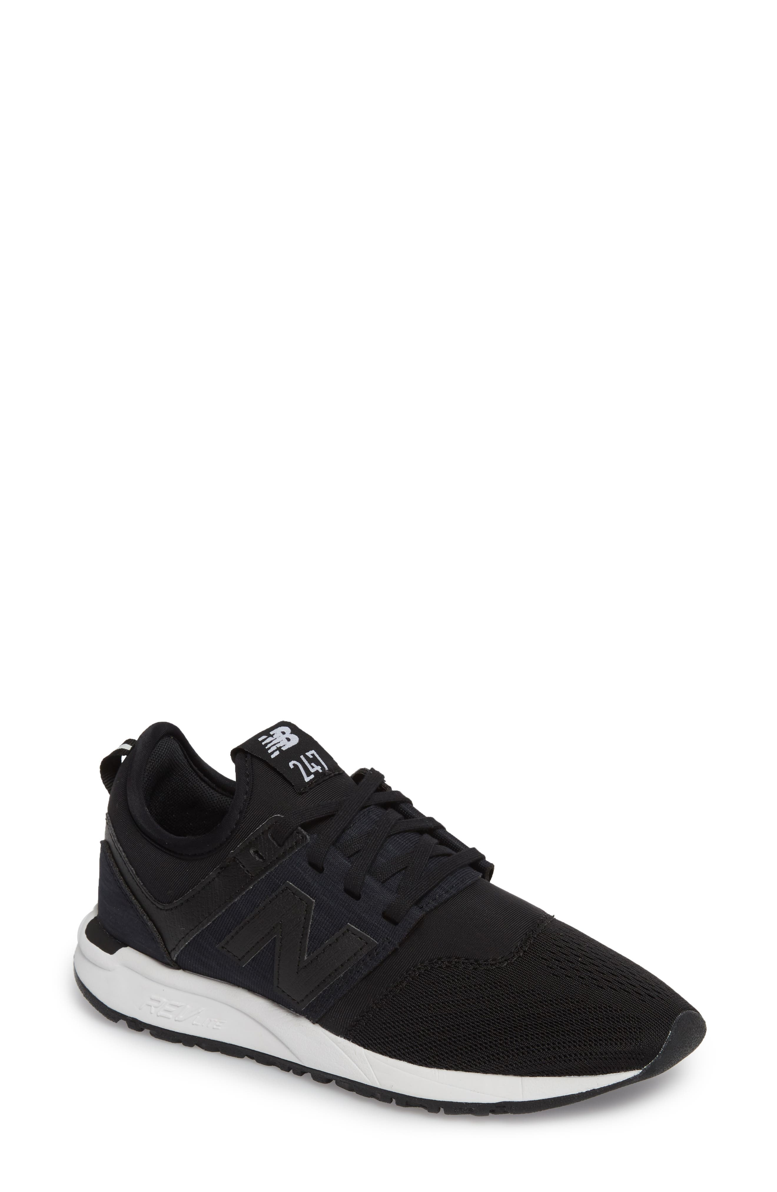 247 Classic Sneaker,                             Main thumbnail 1, color,                             Black