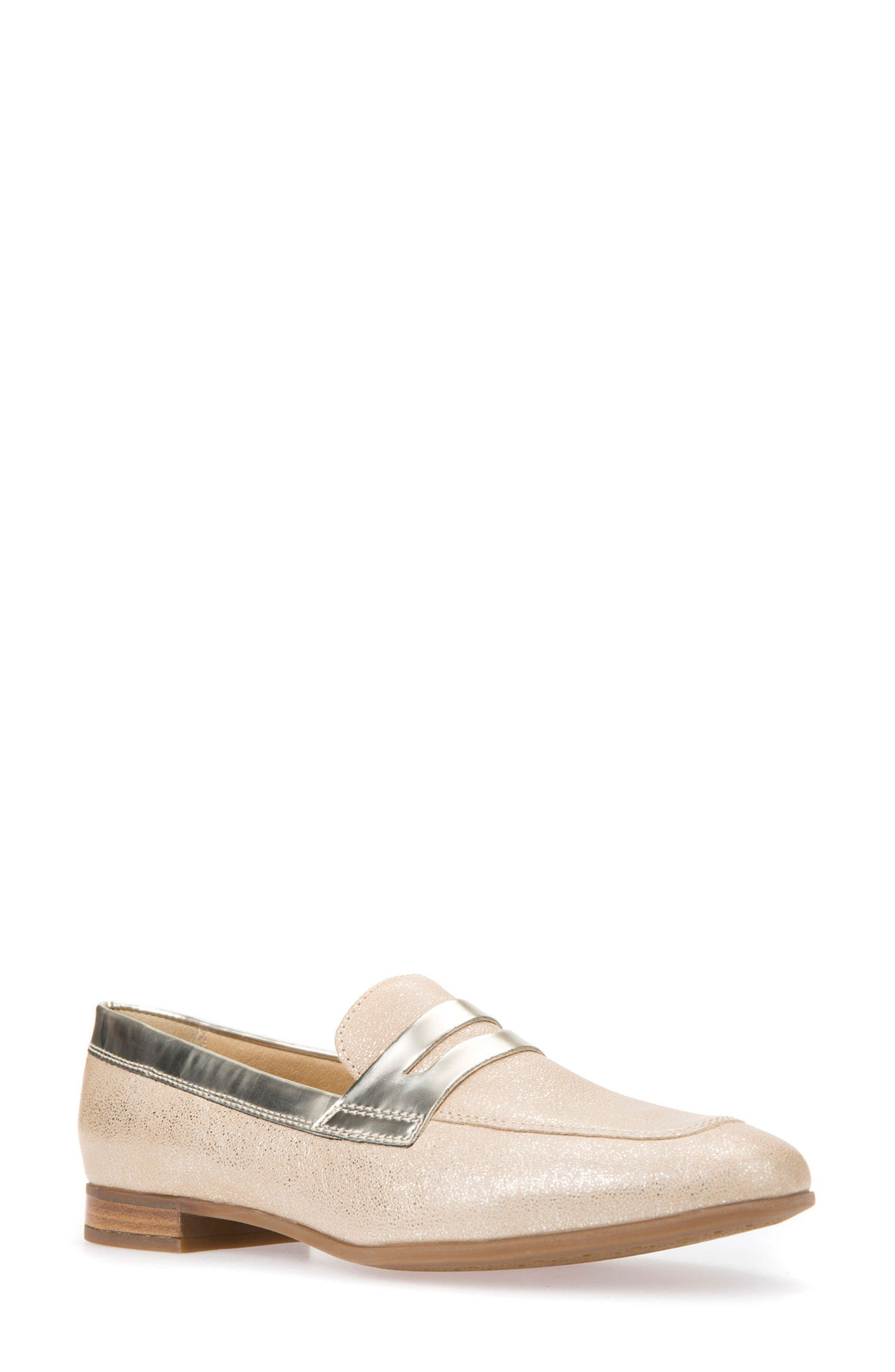 Alternate Image 1 Selected - Geox Marlyna Penny Loafer (Women)