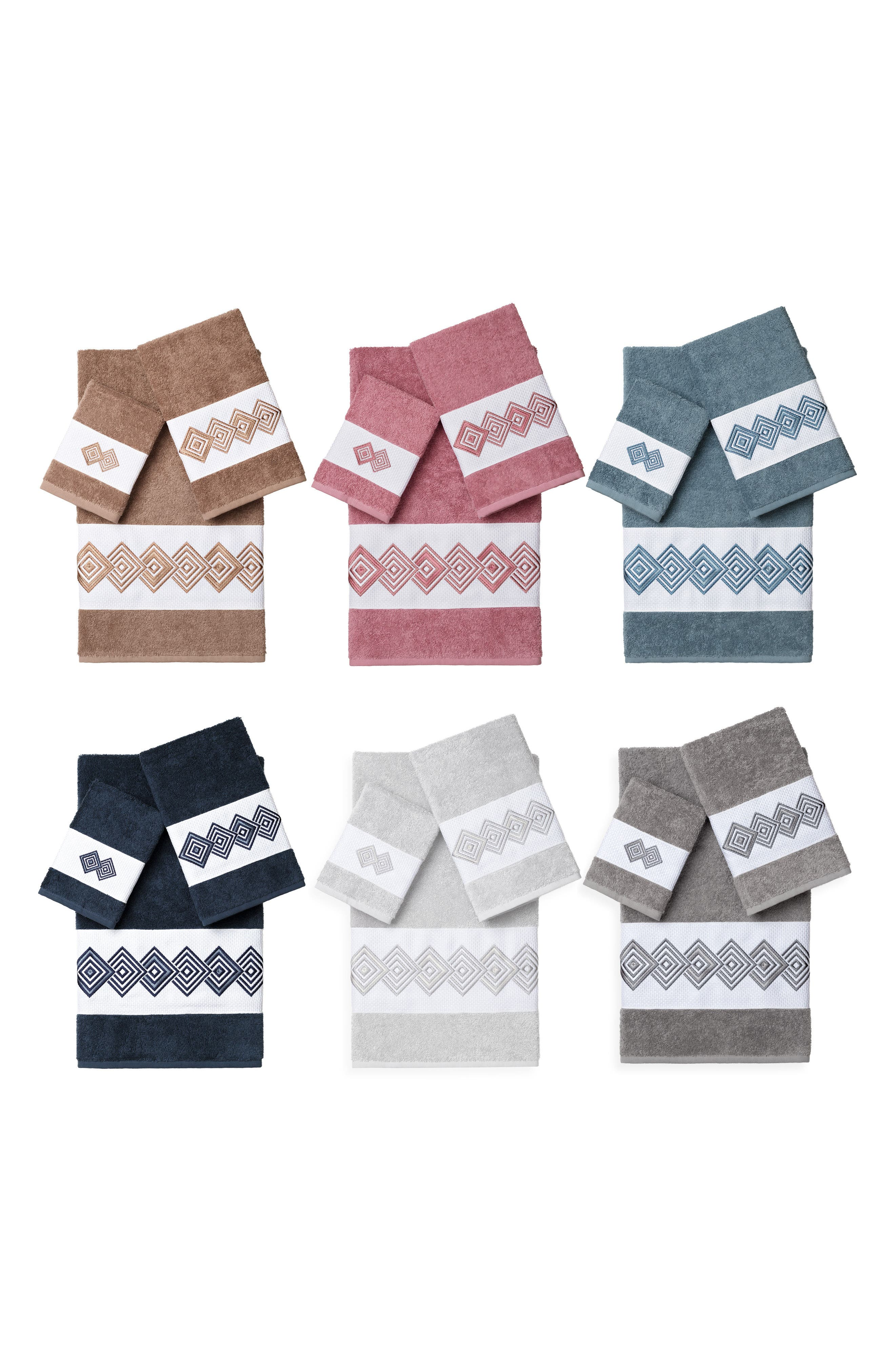 Noah 3-Piece Turkish Cotton Towel Set,                             Alternate thumbnail 3, color,                             Dark Grey