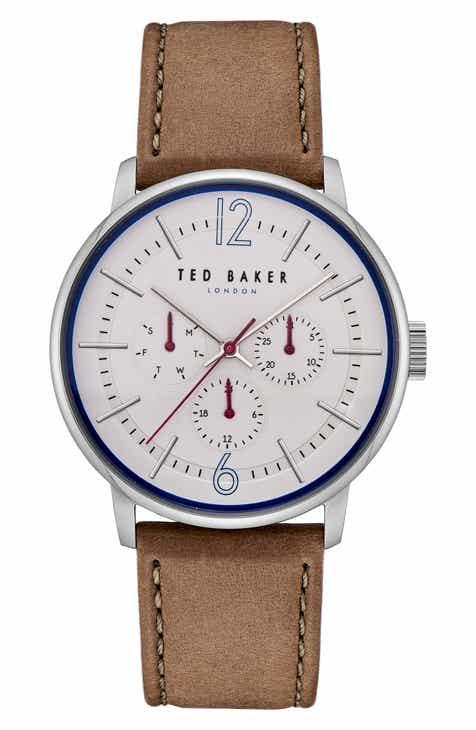 de893dcebe6479 Ted Baker London Jason Multifunction Leather Strap Watch