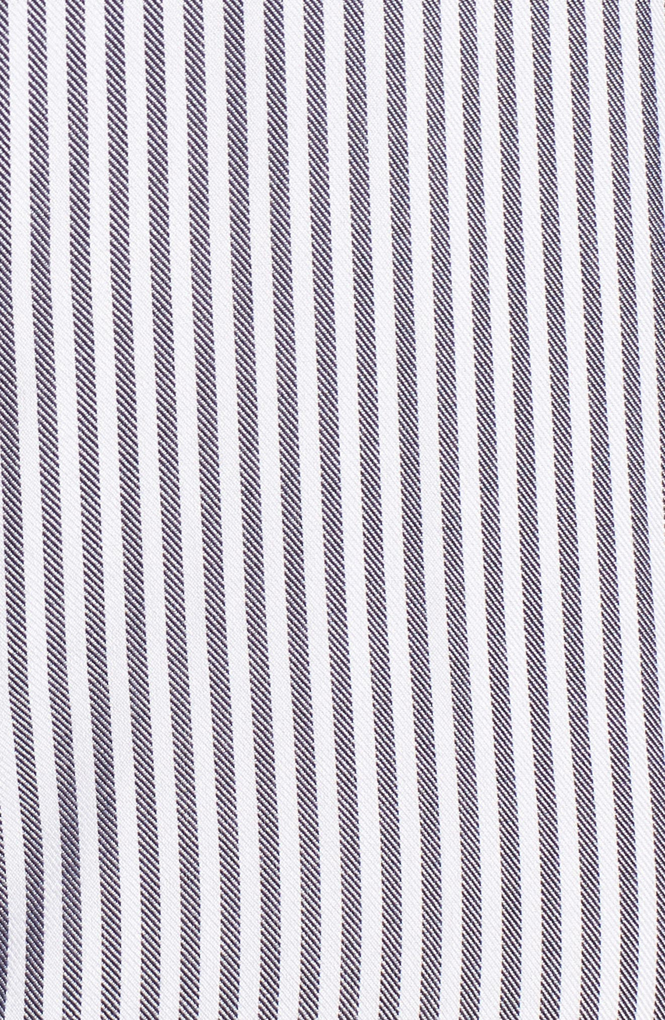 Skipper Stripe Shirtdress,                             Alternate thumbnail 5, color,                             Navy White