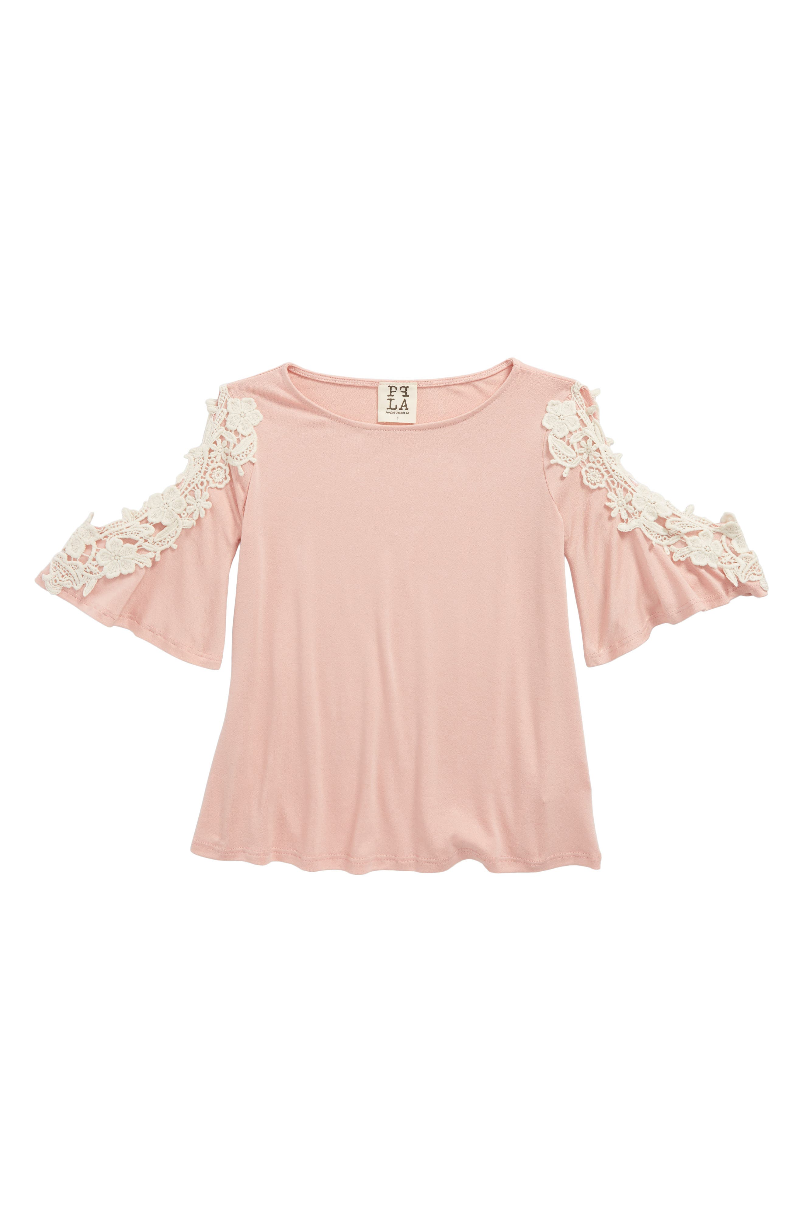 PPLA Penny Lace Cold Shoulder Top (Big Girls)