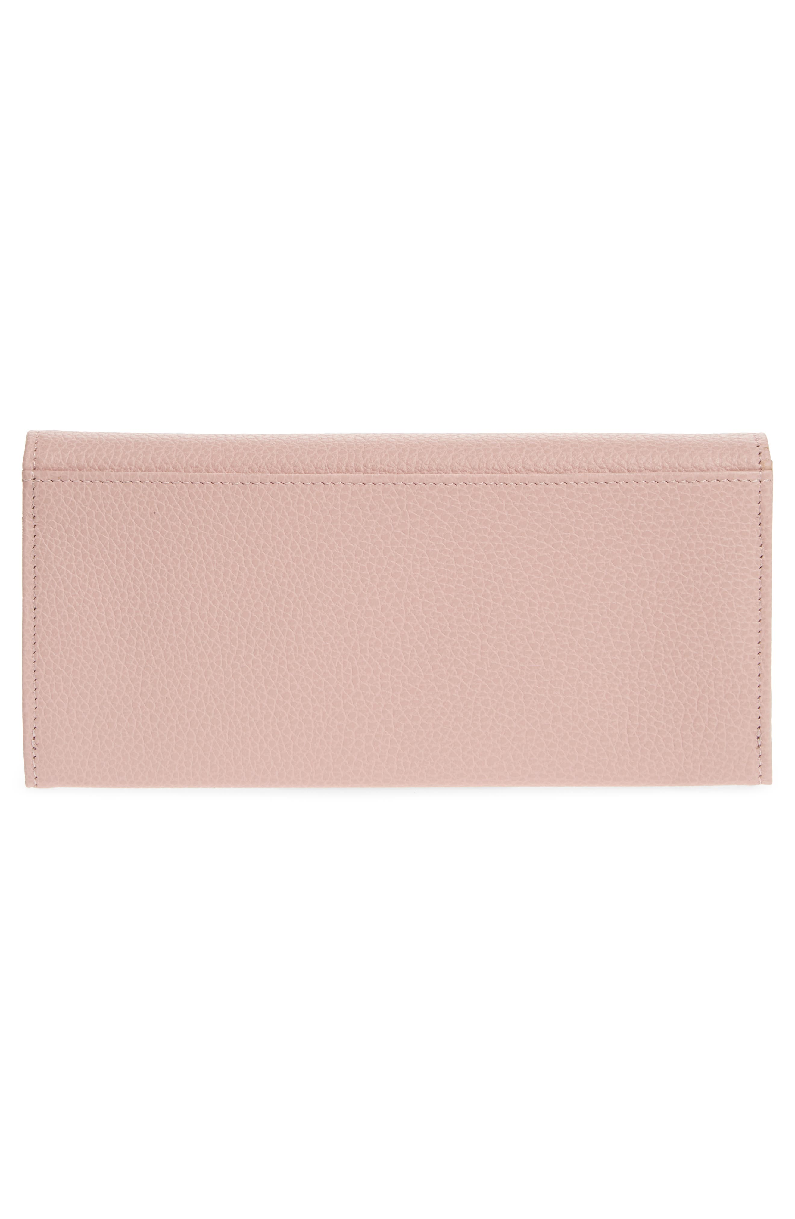 'Veau' Continental Wallet,                             Alternate thumbnail 4, color,                             Powder