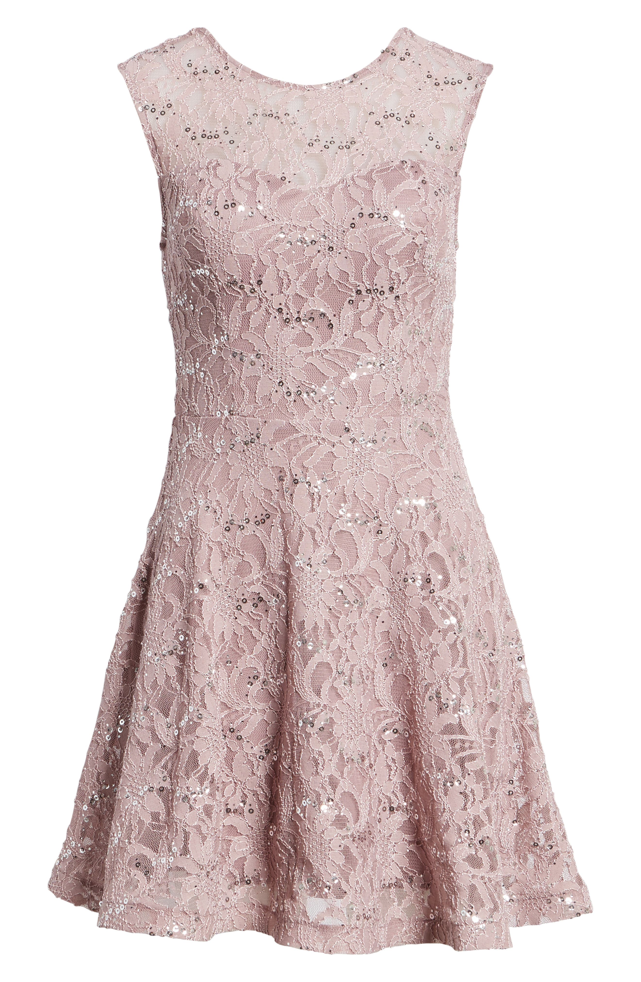 Alternate Image 6  - Speechless Sequin Lace Fit & Flare Dress