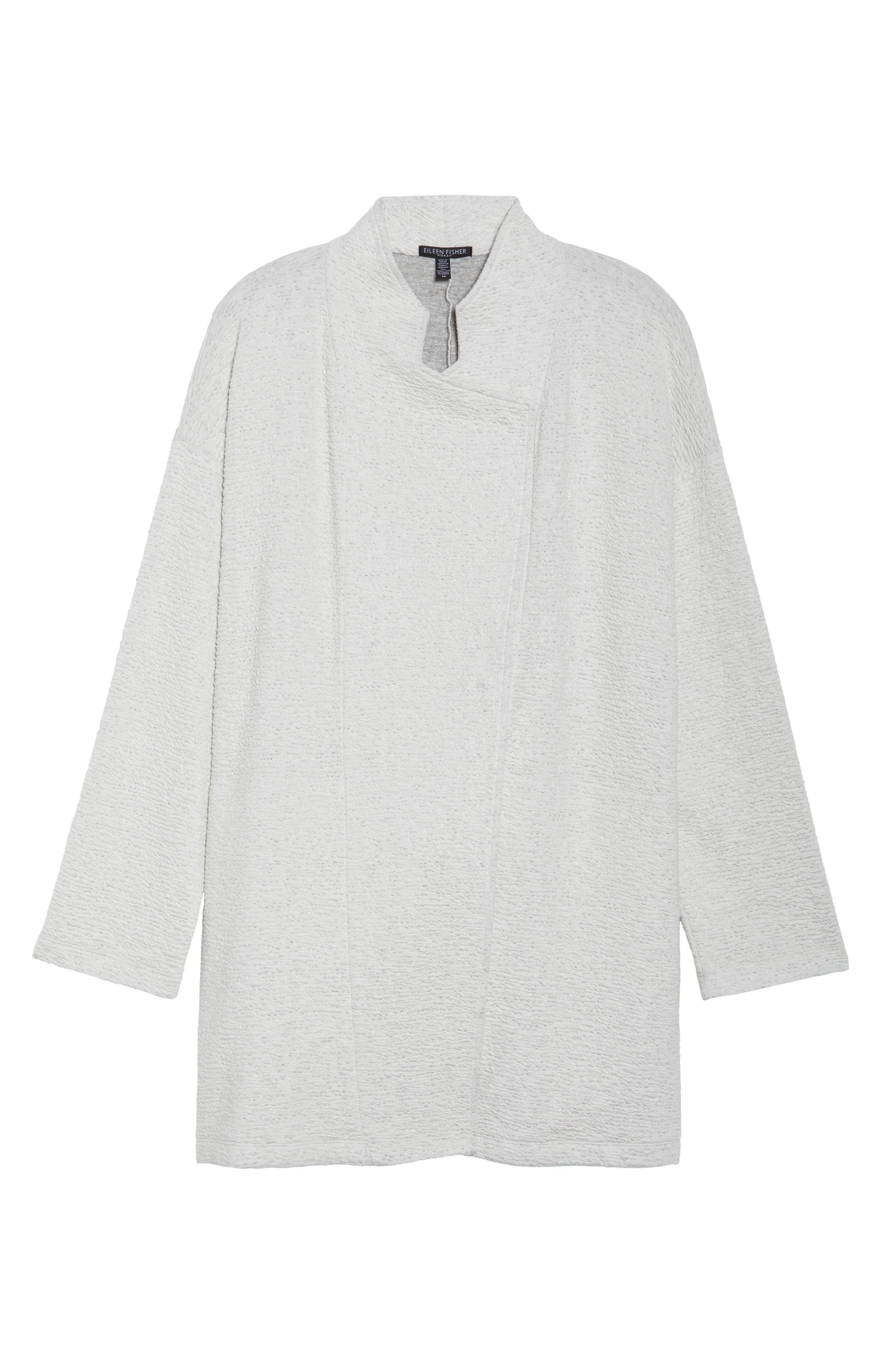 Textured Tencel<sup>®</sup> Lyocell Kimono Jacket,                             Alternate thumbnail 6, color,                             White