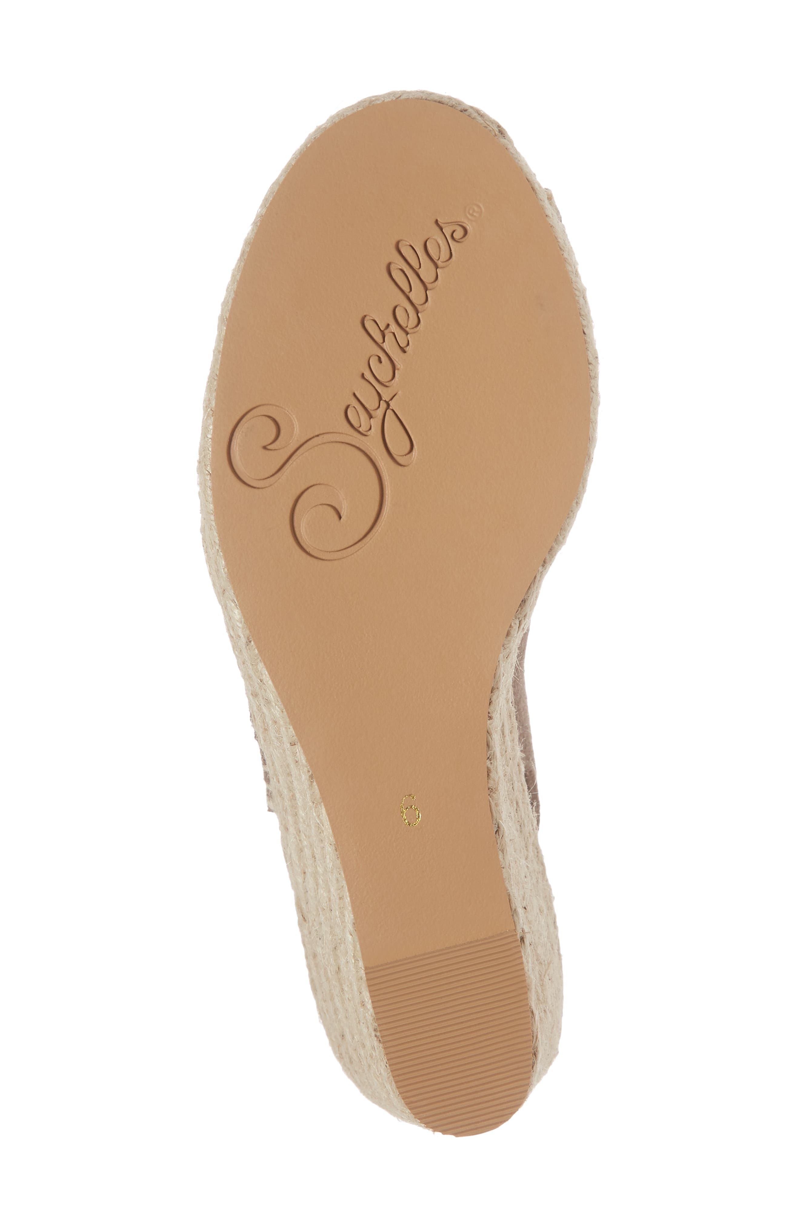 Interrelated Espadrille Wedge Sandal,                             Alternate thumbnail 6, color,                             Taupe Suede